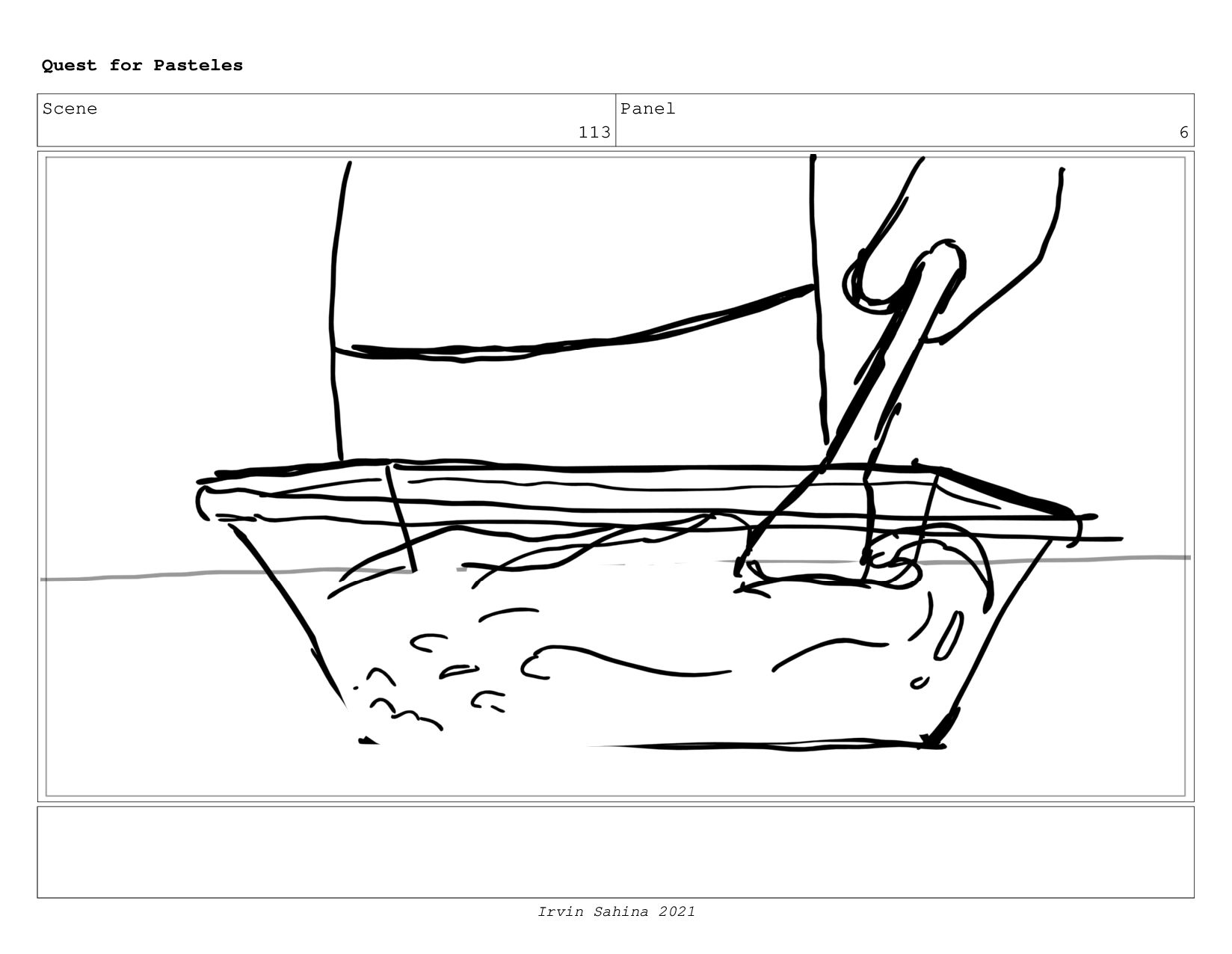 Scene 119 Panel 1 Quest for Pasteles Irvin Sahi...