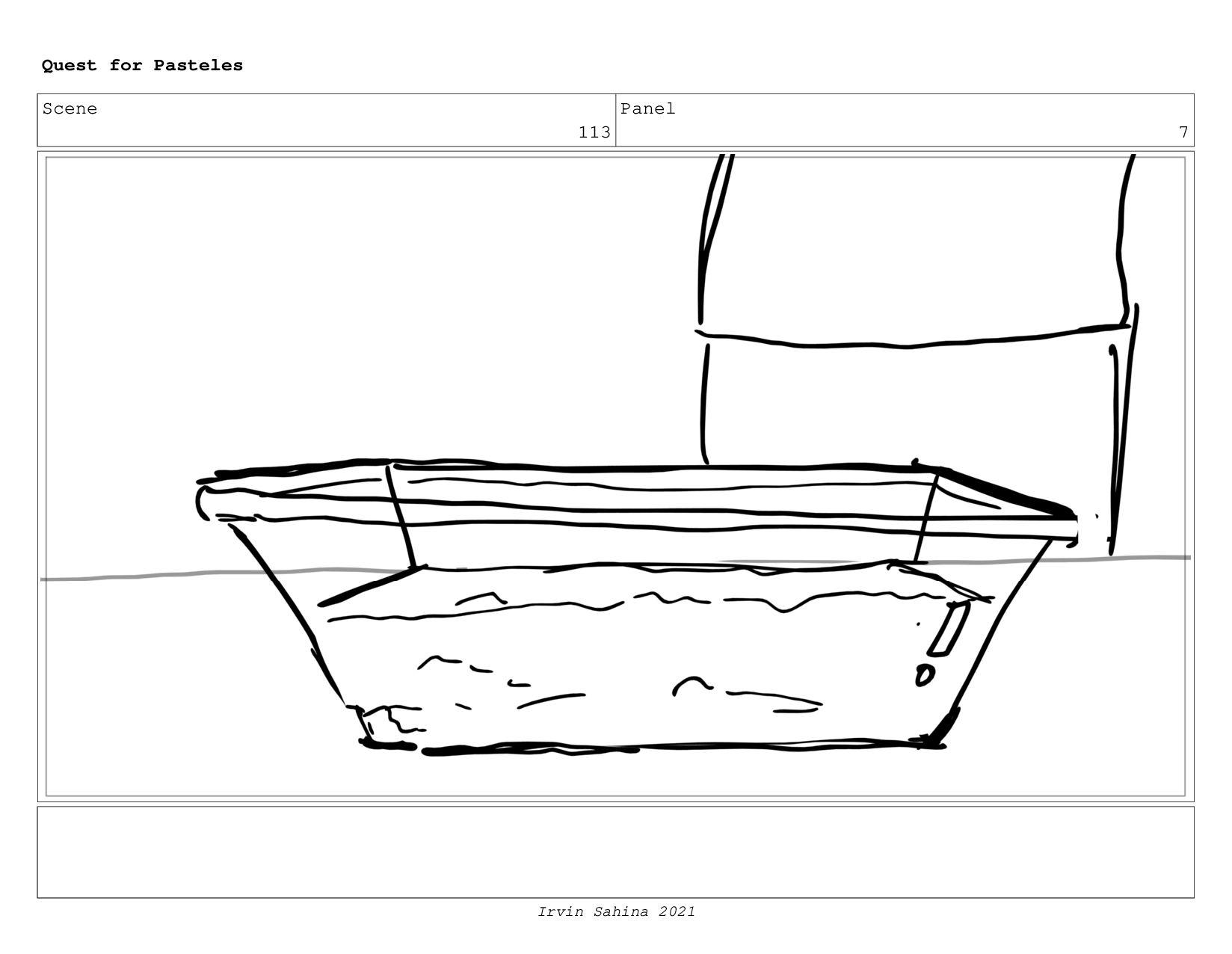 Scene 119 Panel 2 Quest for Pasteles Irvin Sahi...