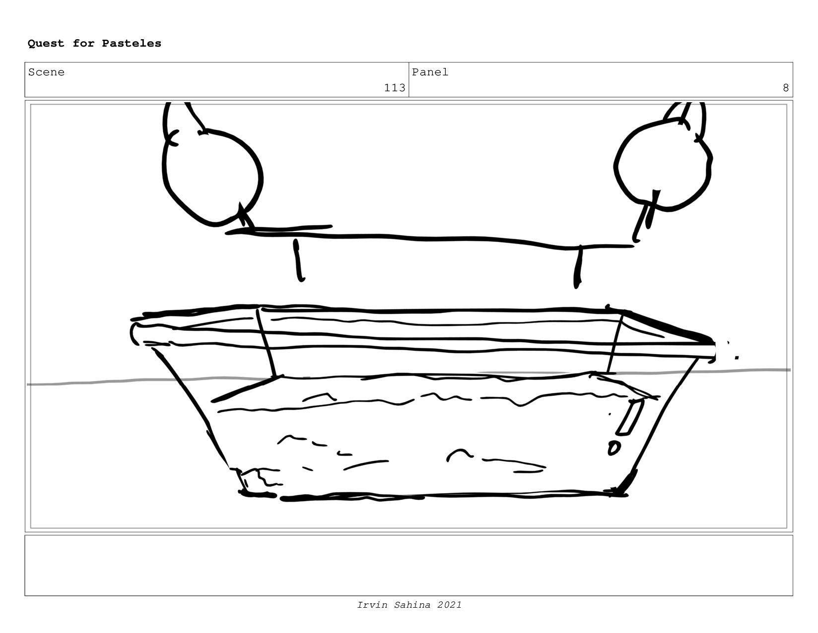 Scene 119 Panel 3 Quest for Pasteles Irvin Sahi...