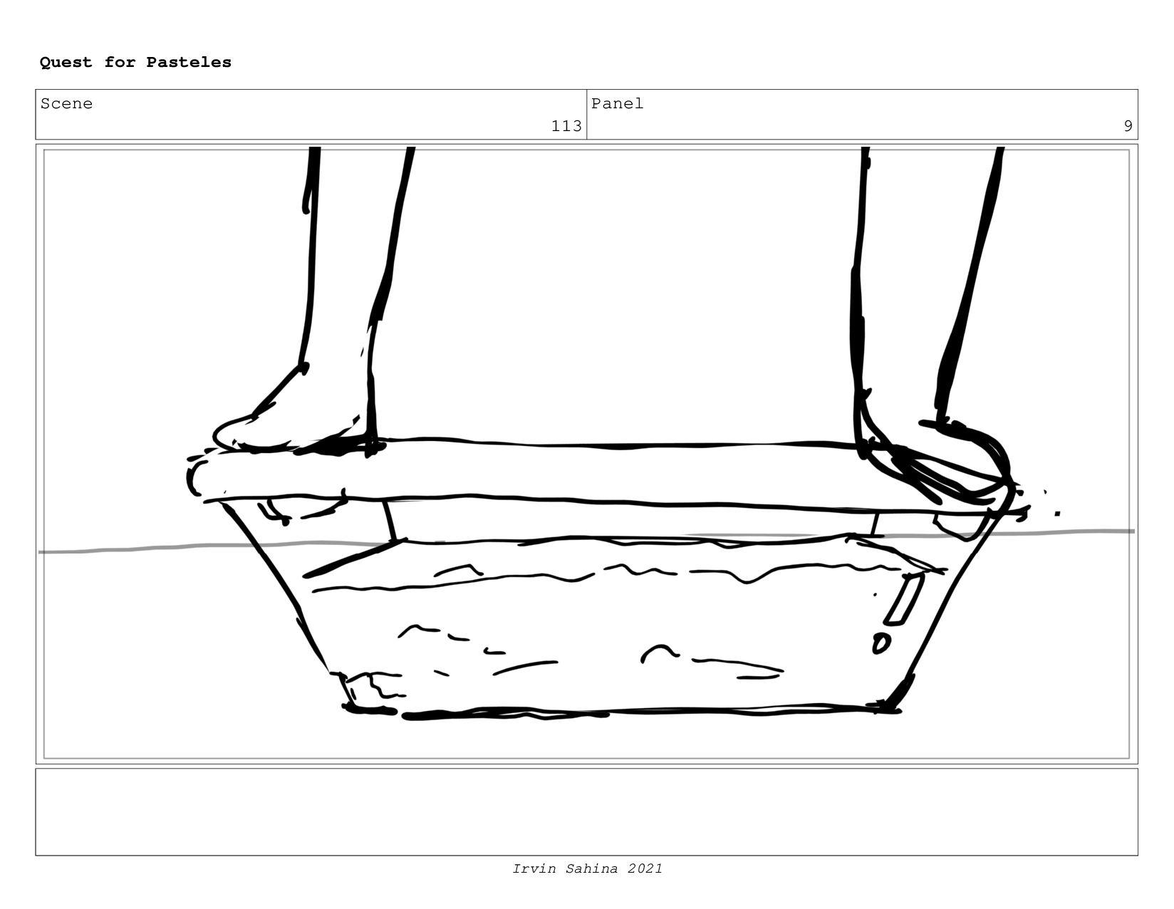Scene 119 Panel 4 Quest for Pasteles Irvin Sahi...