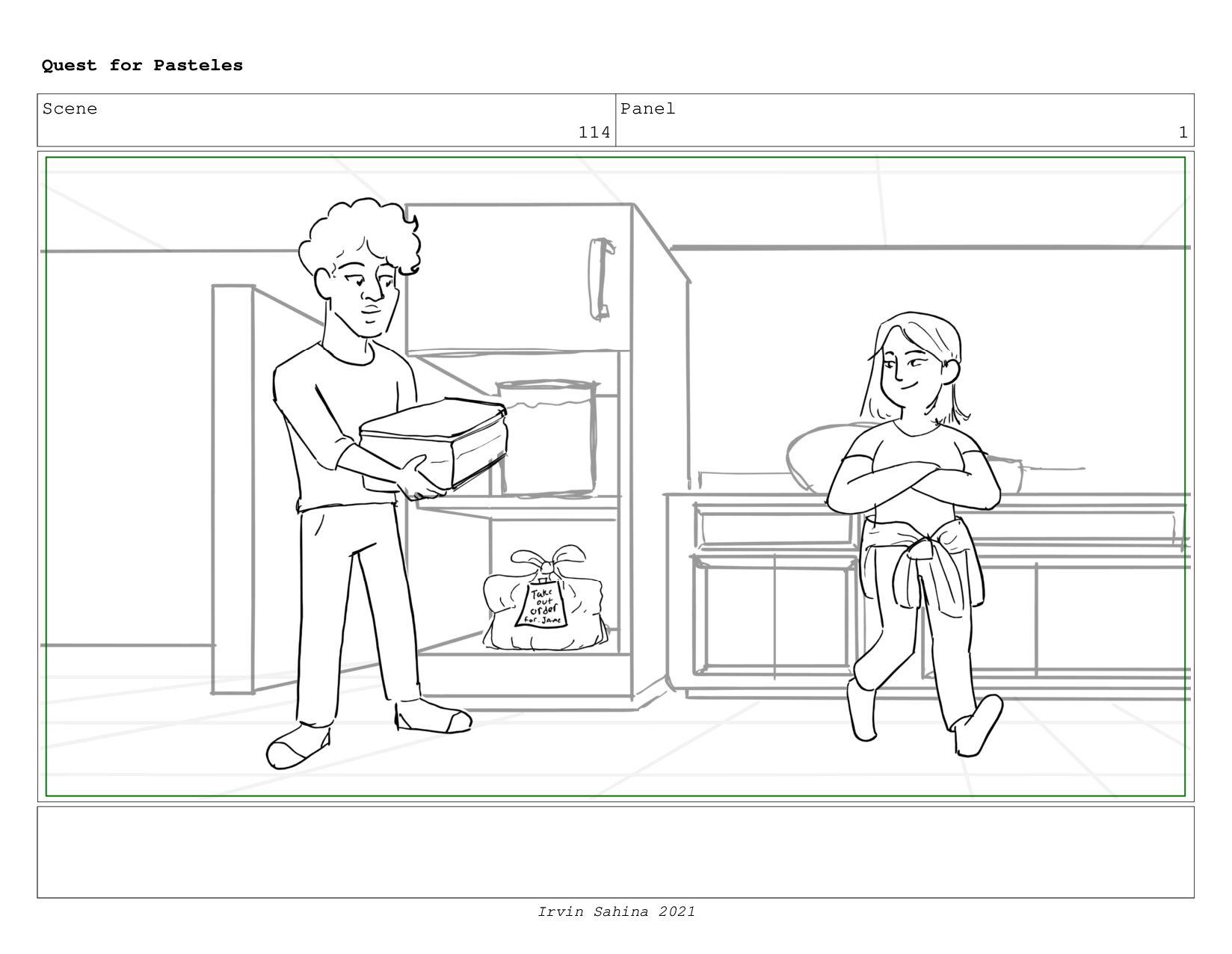Scene 119 Panel 5 Quest for Pasteles Irvin Sahi...