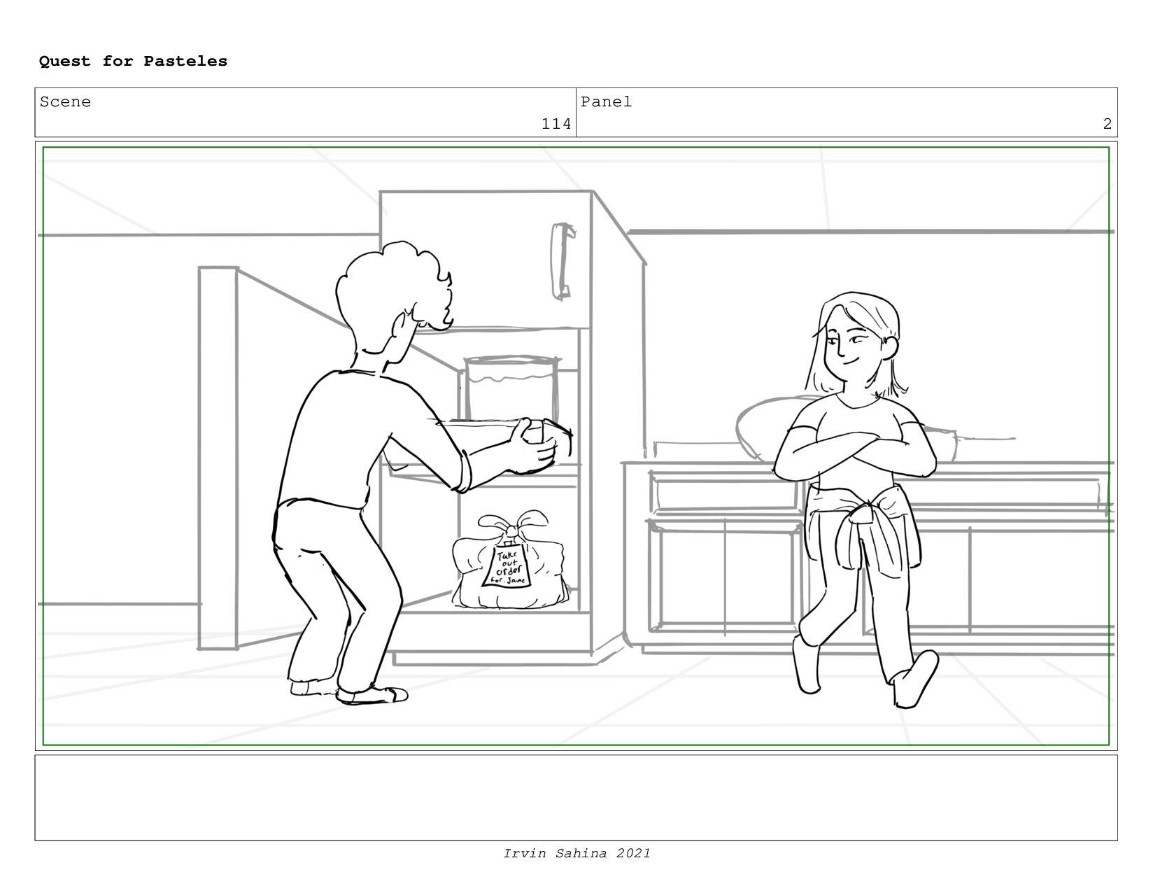 Scene 119 Panel 6 Quest for Pasteles Irvin Sahi...