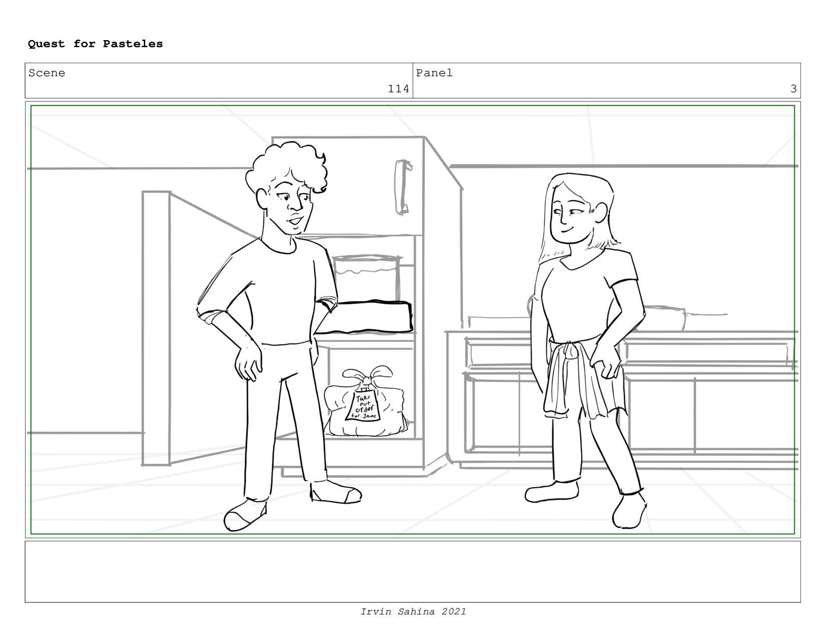 Scene 119 Panel 7 Quest for Pasteles Irvin Sahi...