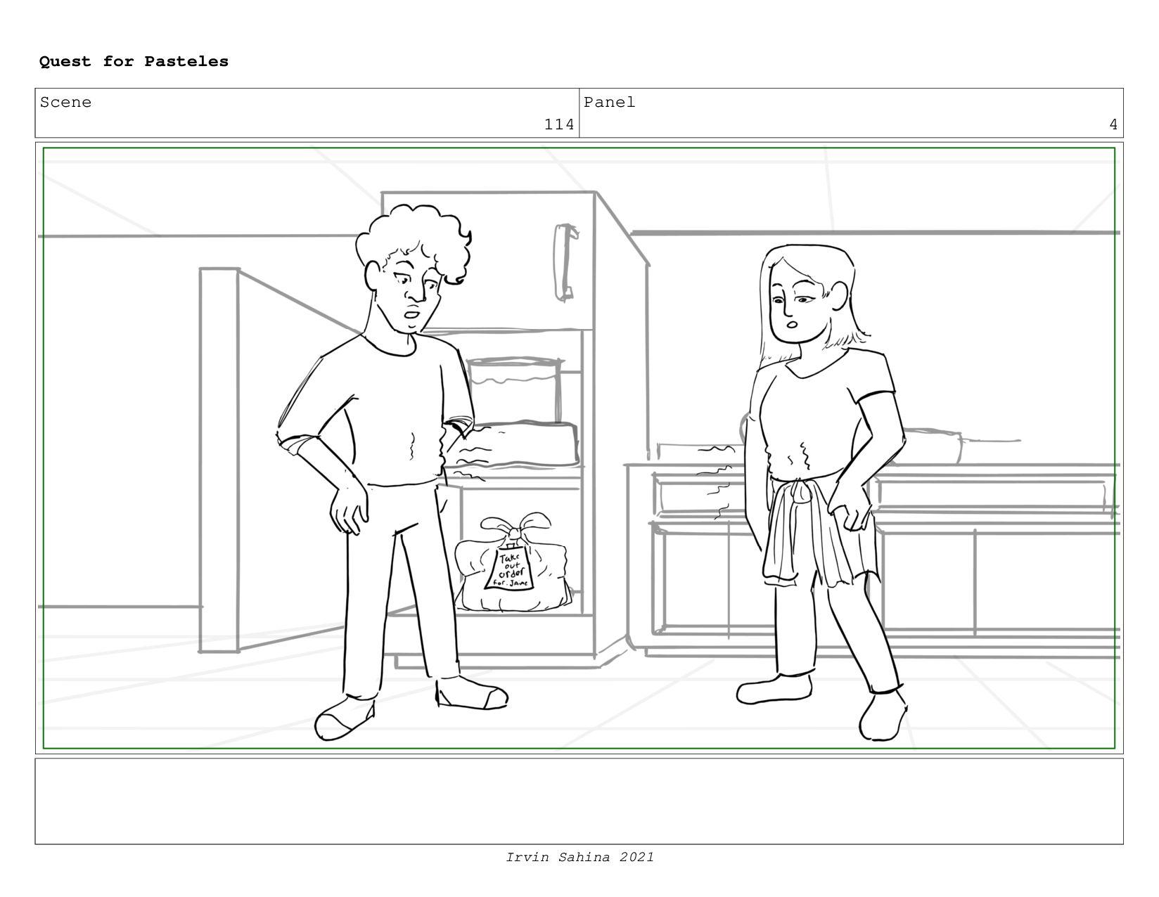 Scene 119 Panel 8 Quest for Pasteles Irvin Sahi...