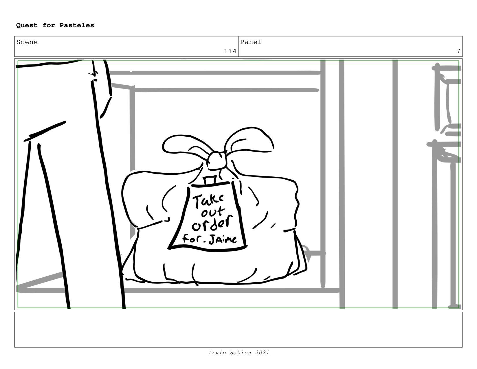 Scene 120 Panel 3 Quest for Pasteles Irvin Sahi...