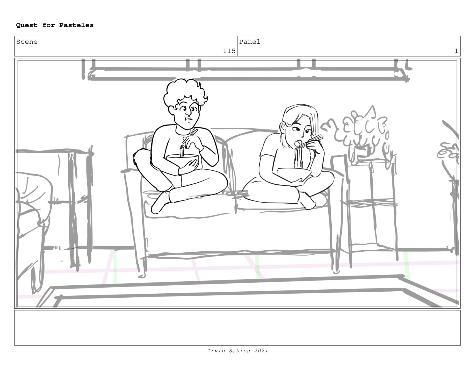 Scene 120 Panel 4 Quest for Pasteles Irvin Sahi...