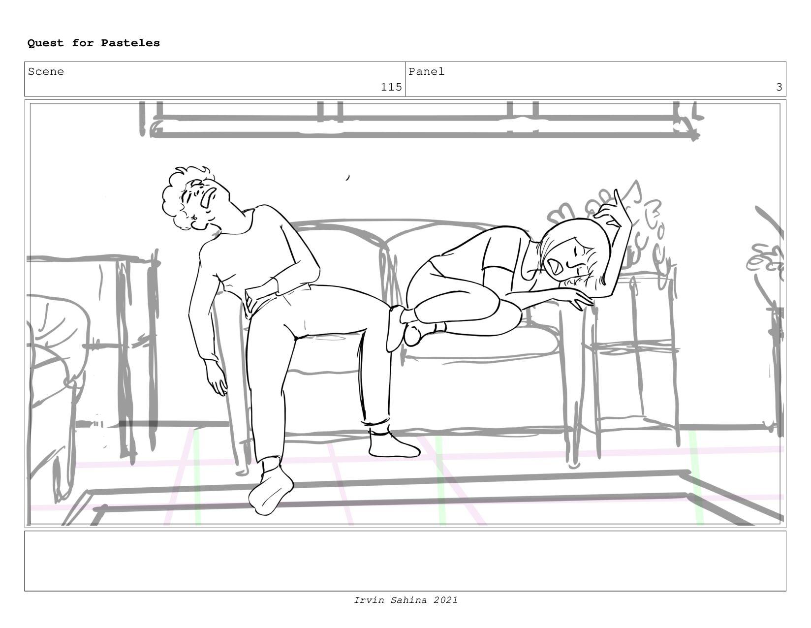 Scene 120 Panel 6 Quest for Pasteles Irvin Sahi...