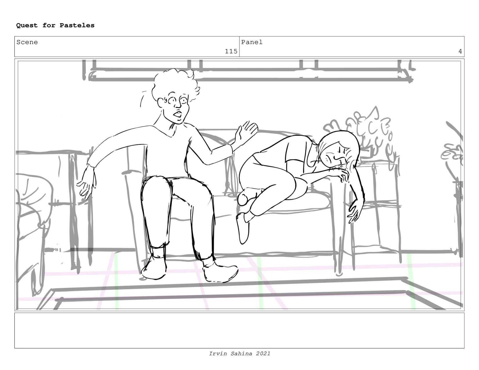 Scene 120 Panel 7 Quest for Pasteles Irvin Sahi...