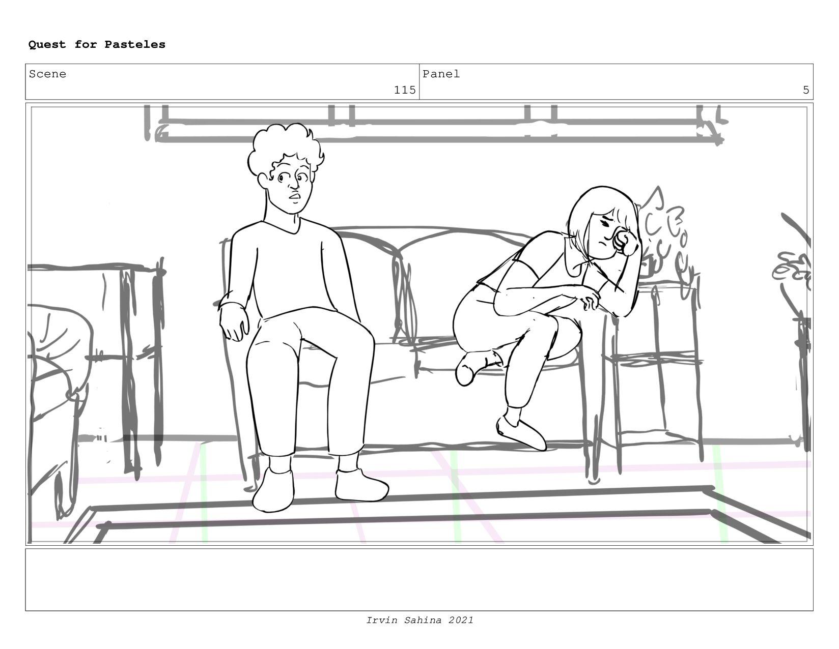 Scene 120 Panel 8 Quest for Pasteles Irvin Sahi...