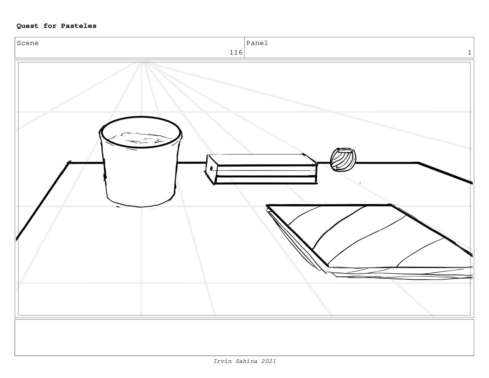 Scene 121 Panel 1 Quest for Pasteles Irvin Sahi...