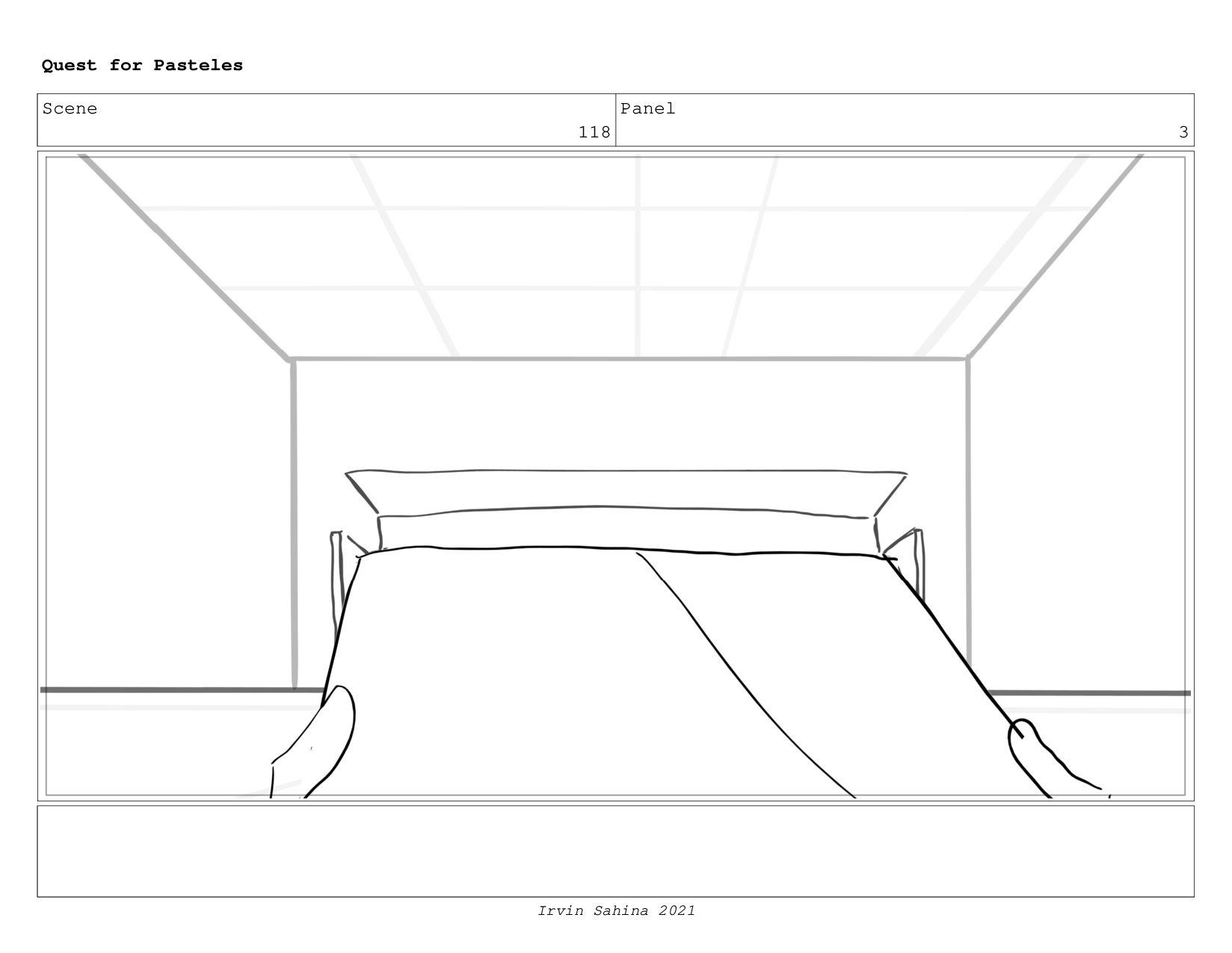 Scene 122 Panel 1 Quest for Pasteles Irvin Sahi...
