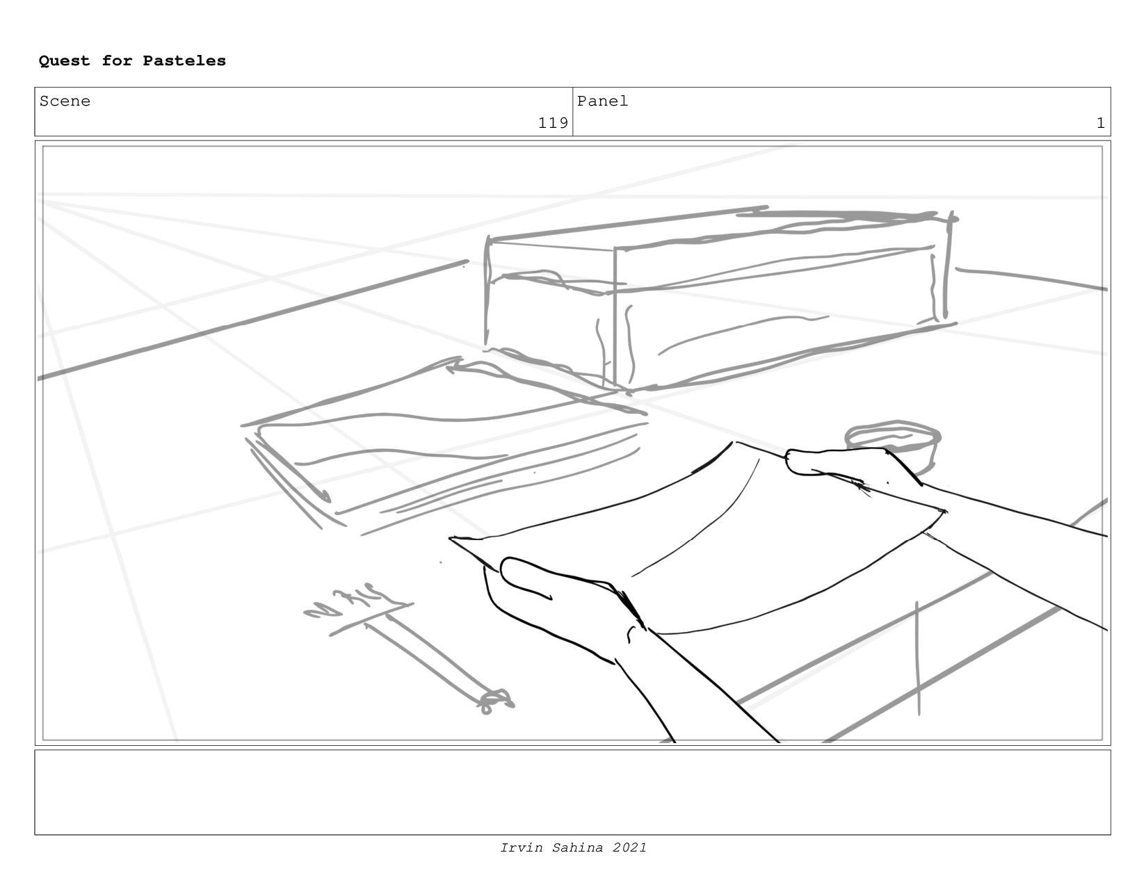 Scene 122 Panel 2 Quest for Pasteles Irvin Sahi...