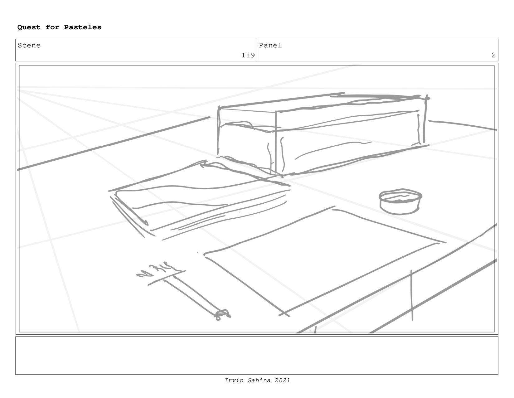 Scene 122 Panel 3 Quest for Pasteles Irvin Sahi...