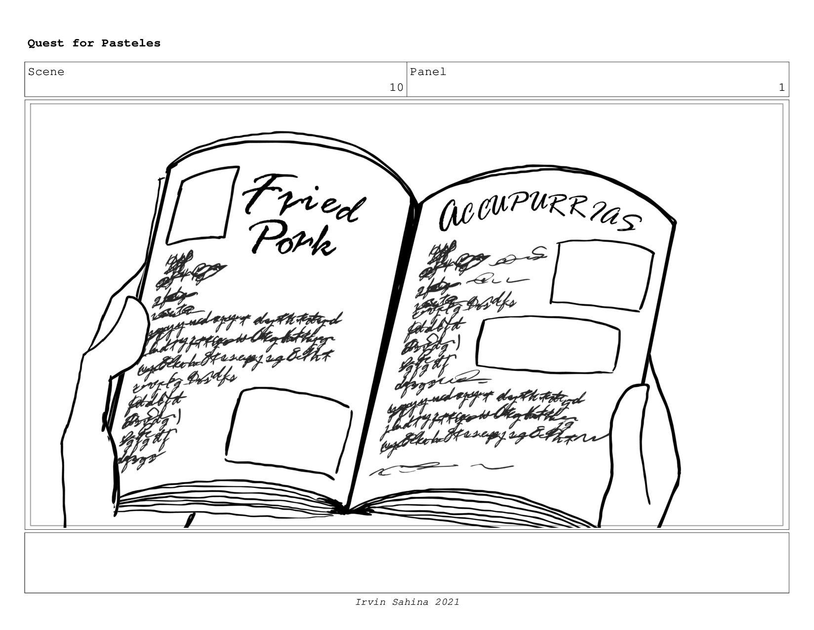 Scene 10 Panel 3 Quest for Pasteles Irvin Sahin...
