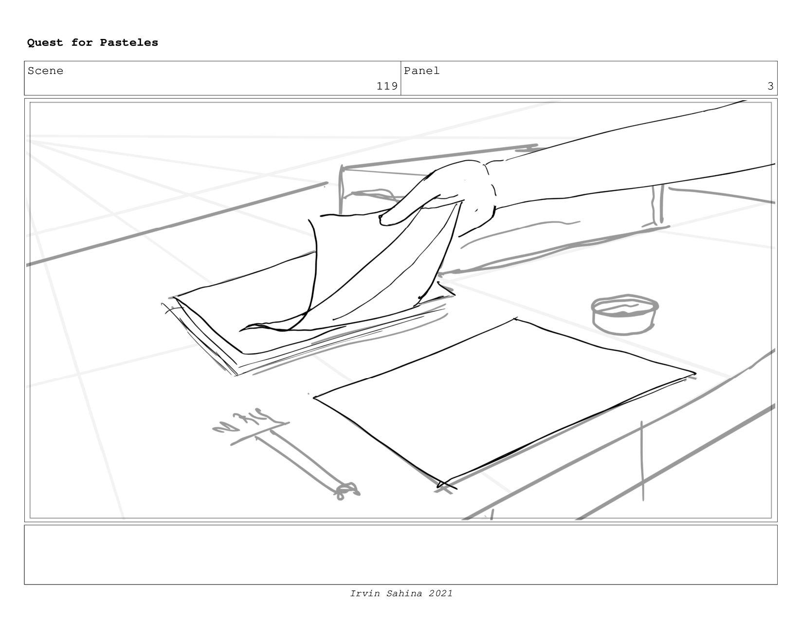 Scene 122 Panel 4 Quest for Pasteles Irvin Sahi...