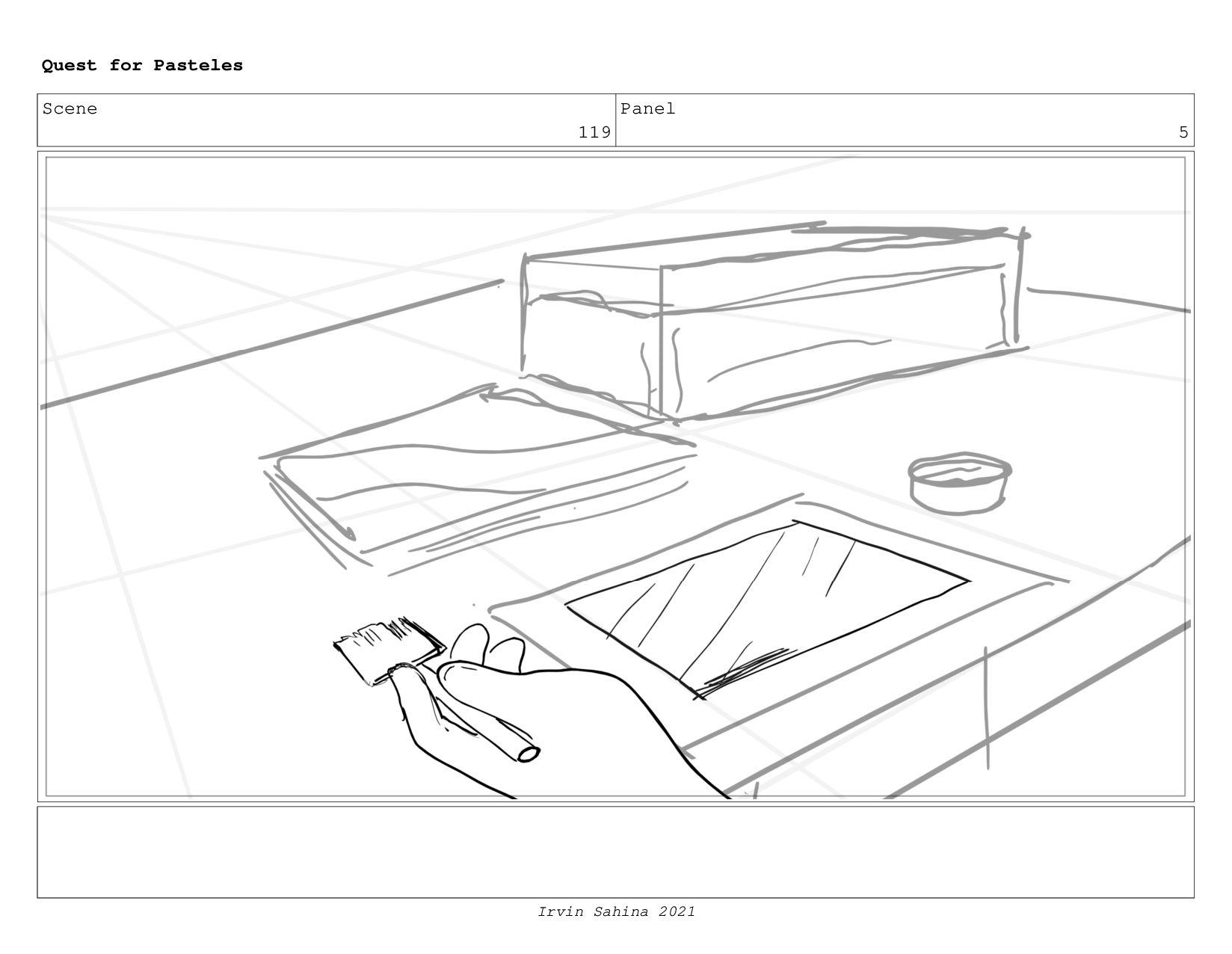 Scene 122 Panel 6 Quest for Pasteles Irvin Sahi...