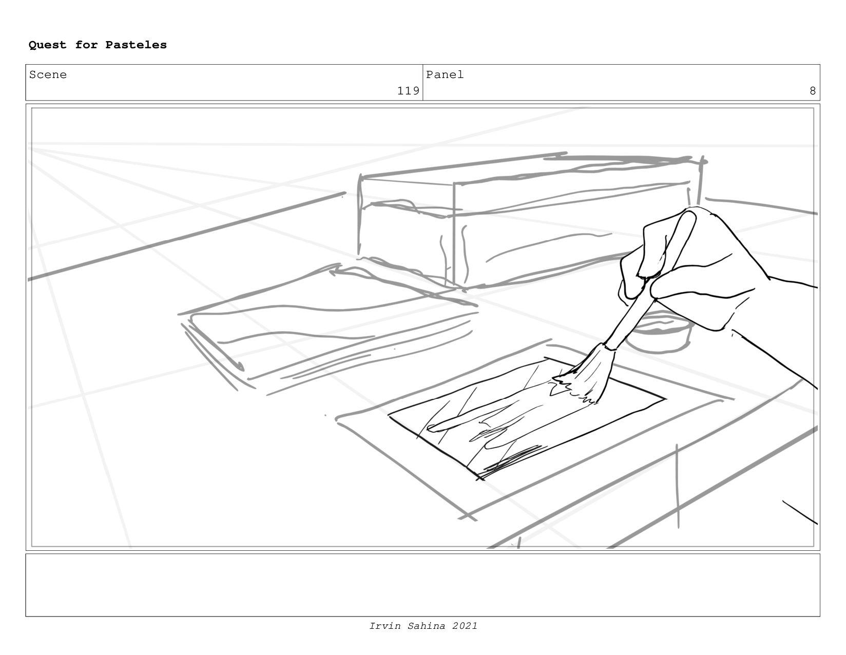 Scene 124 Panel 2 Quest for Pasteles Irvin Sahi...