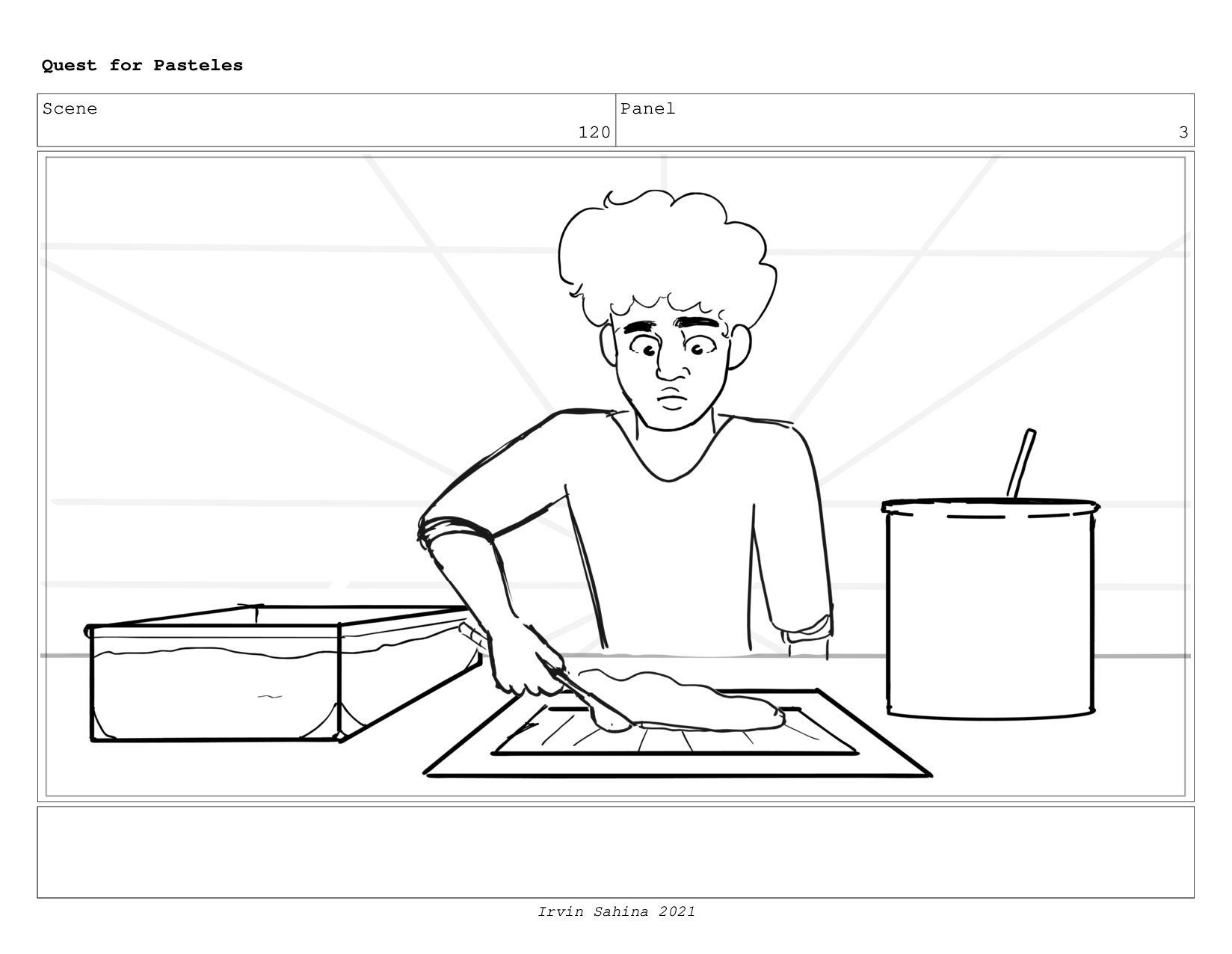 Scene 125 Panel 1 Quest for Pasteles Irvin Sahi...