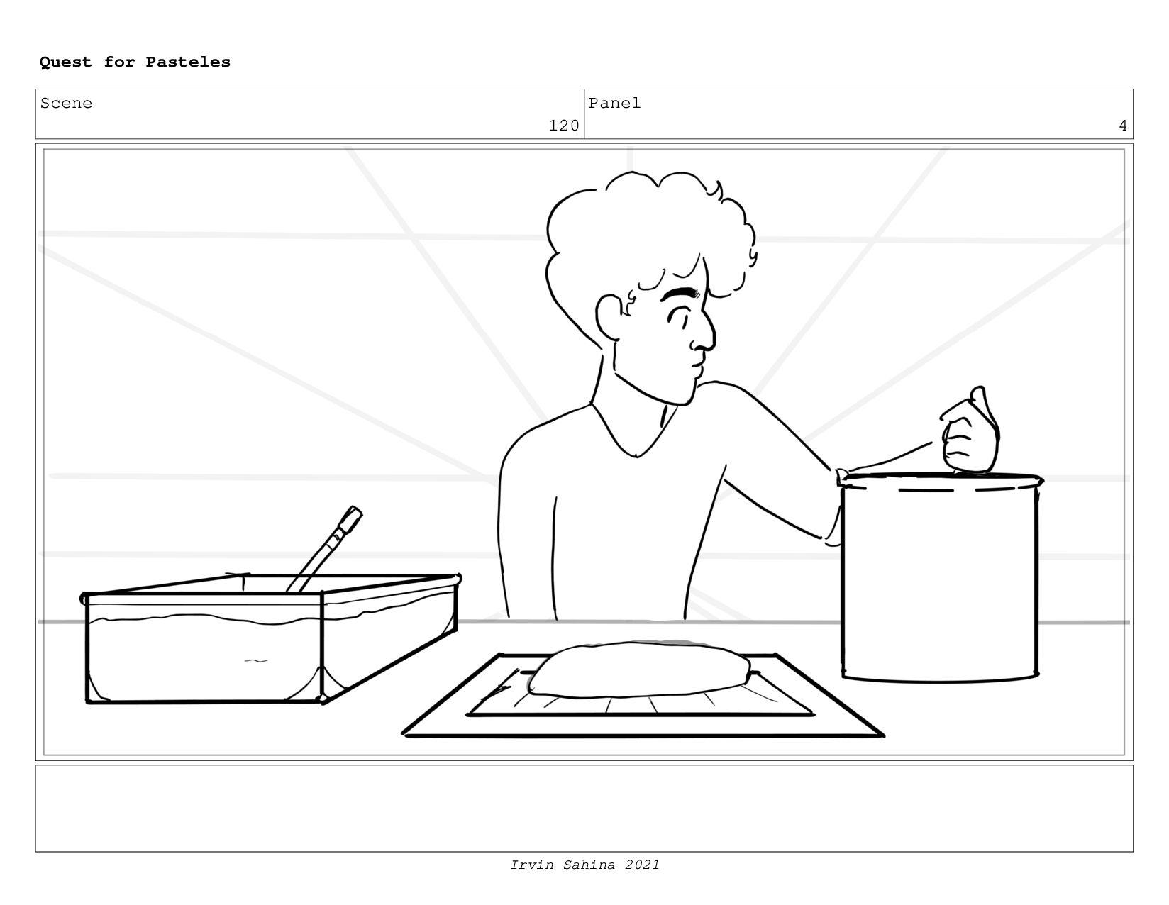 Scene 125 Panel 2 Quest for Pasteles Irvin Sahi...