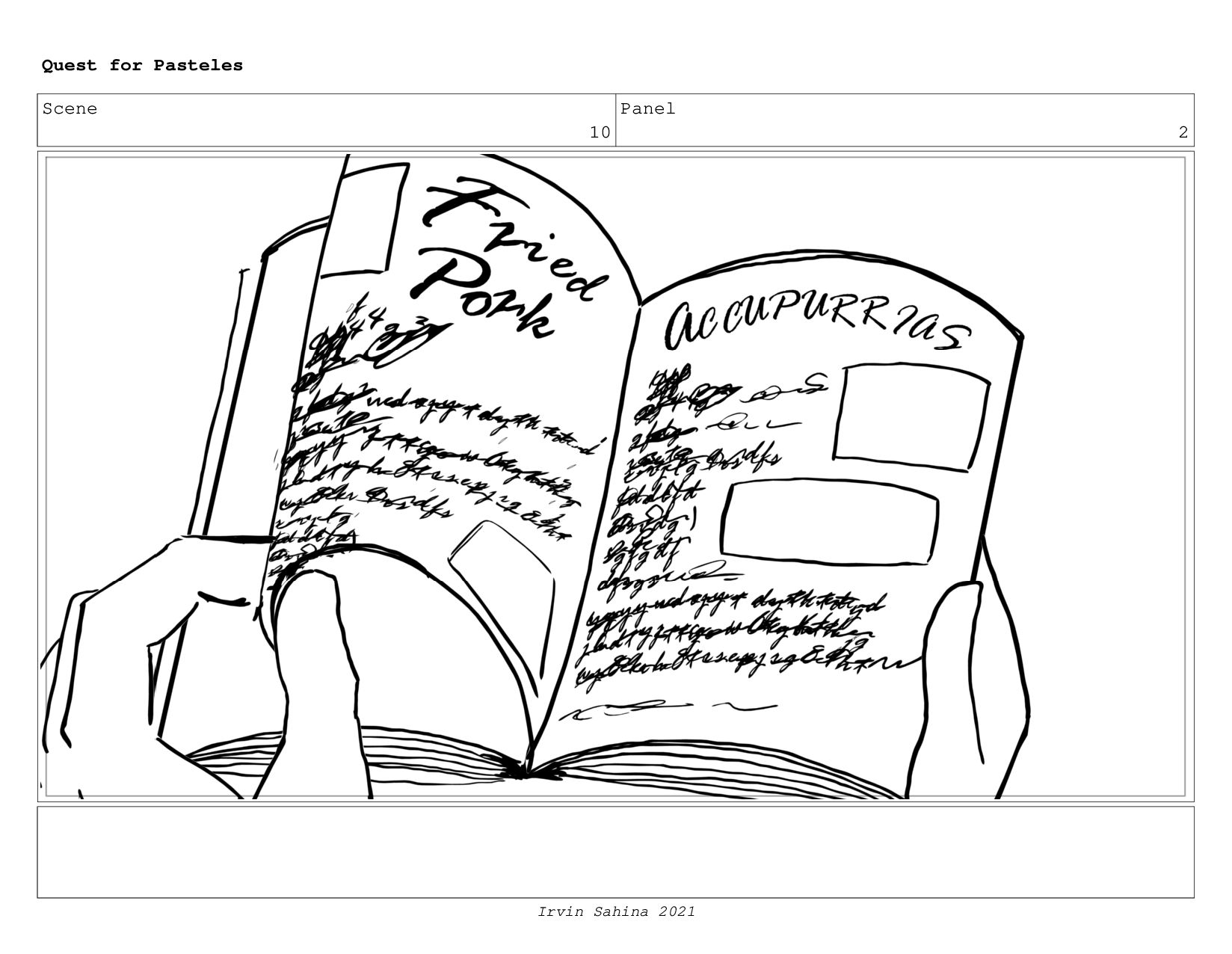 Scene 10 Panel 4 Quest for Pasteles Irvin Sahin...