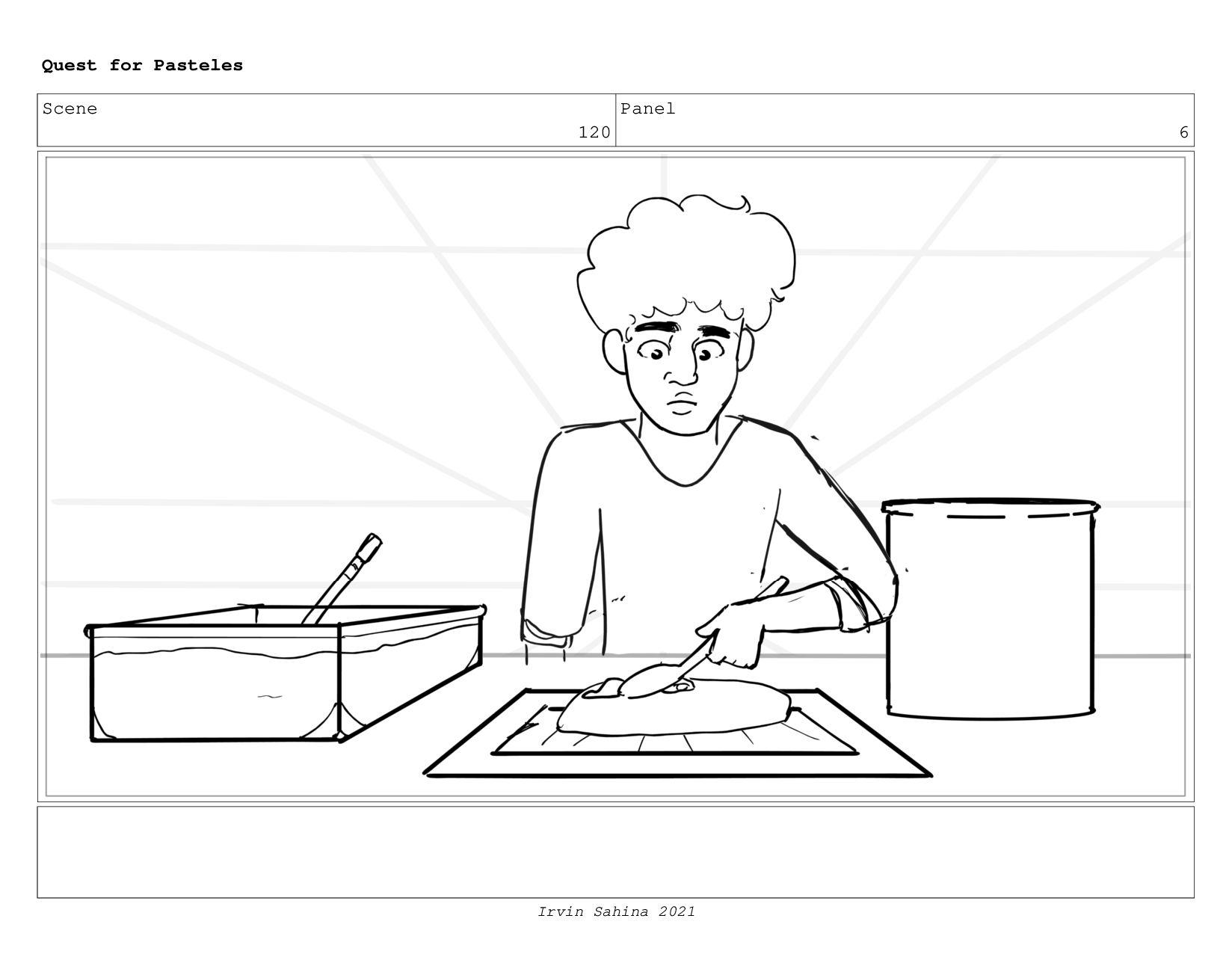 Scene 126 Panel 2 Quest for Pasteles Irvin Sahi...