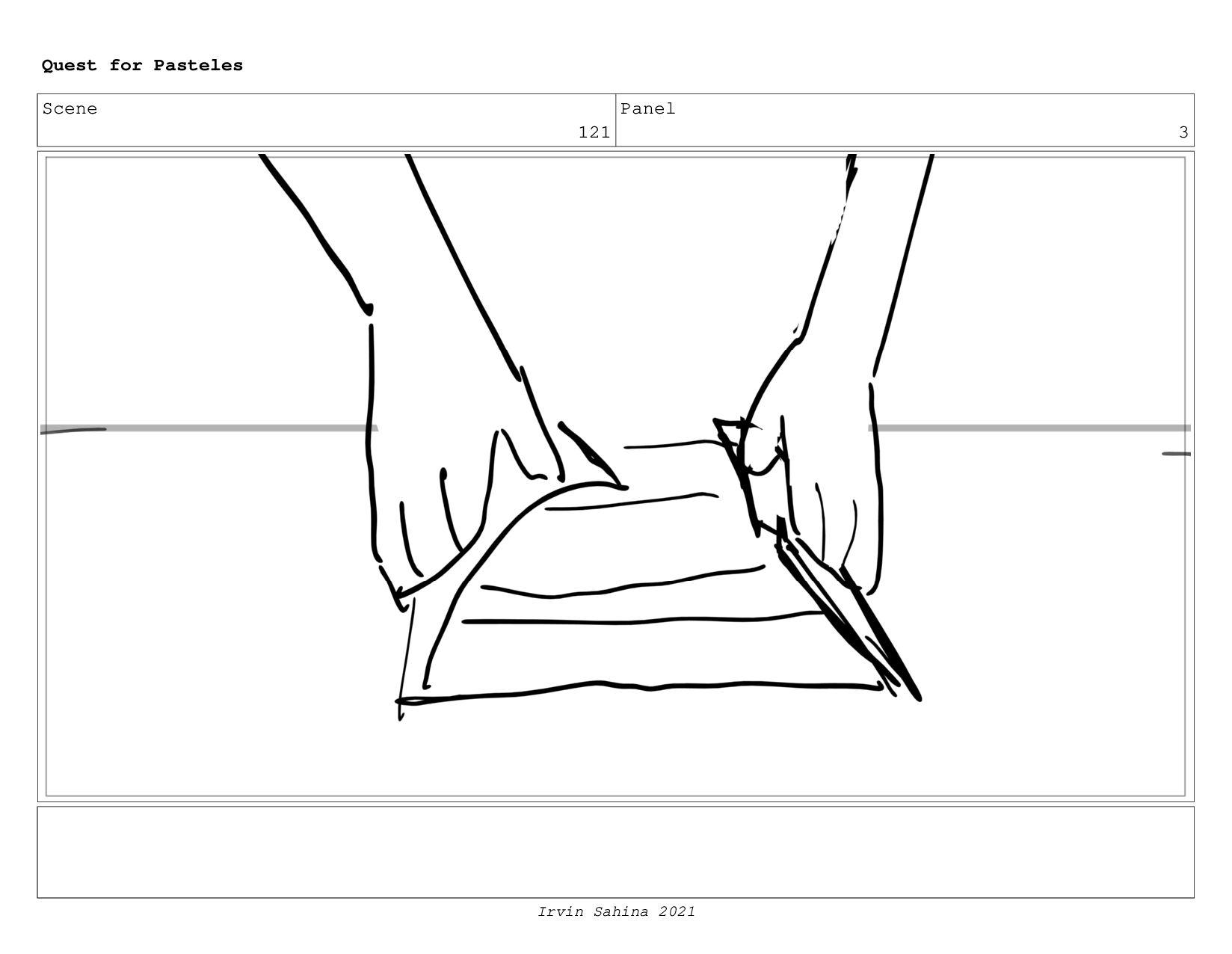 Scene 126 Panel 7 Quest for Pasteles Irvin Sahi...