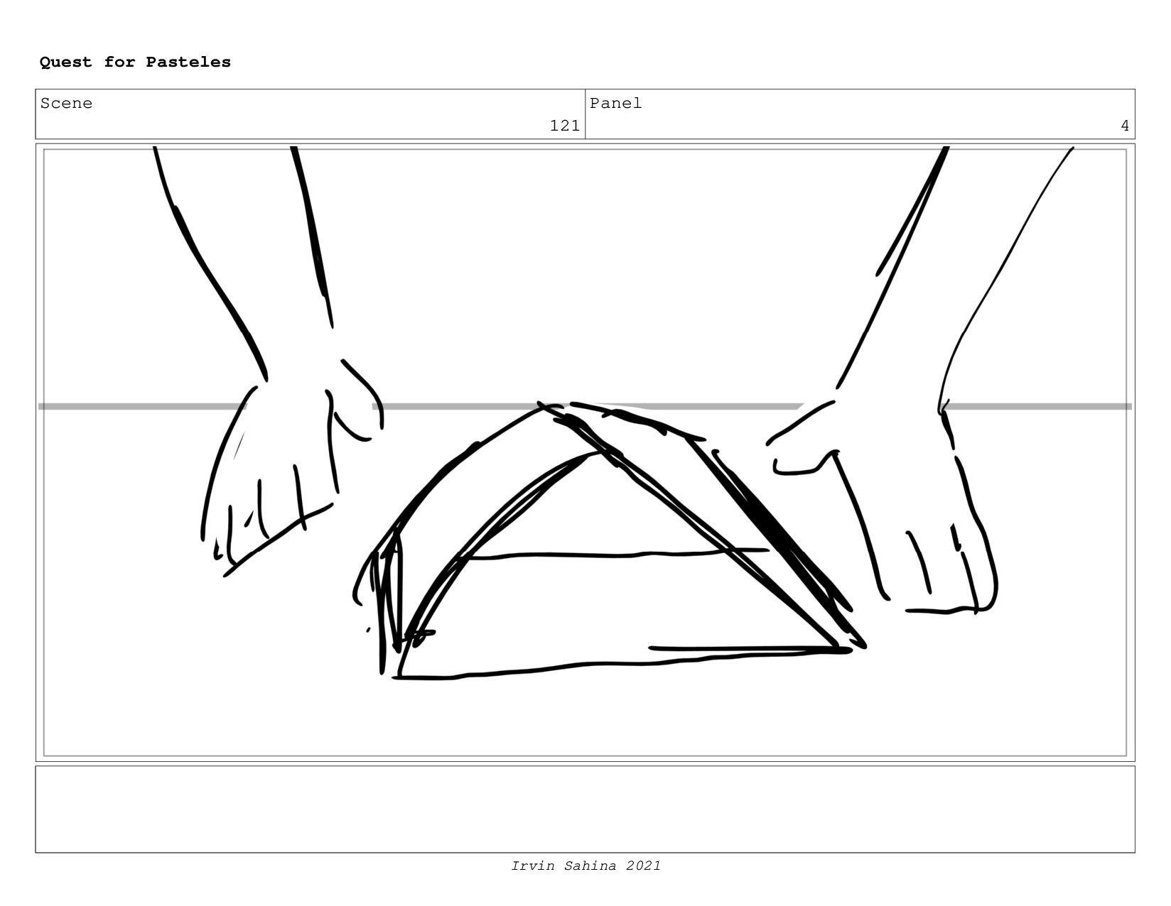 Scene 127 Panel 1 Quest for Pasteles Irvin Sahi...
