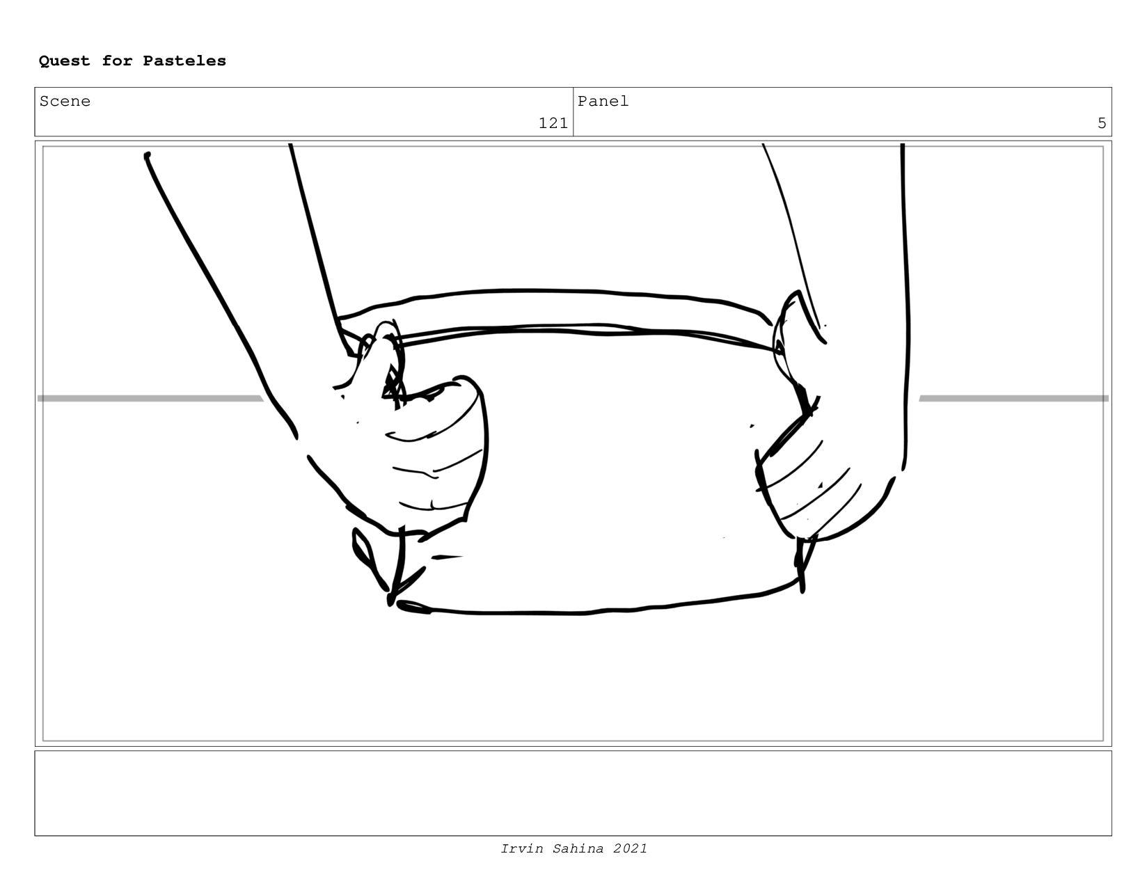 Scene 128 Panel 1 Quest for Pasteles Irvin Sahi...
