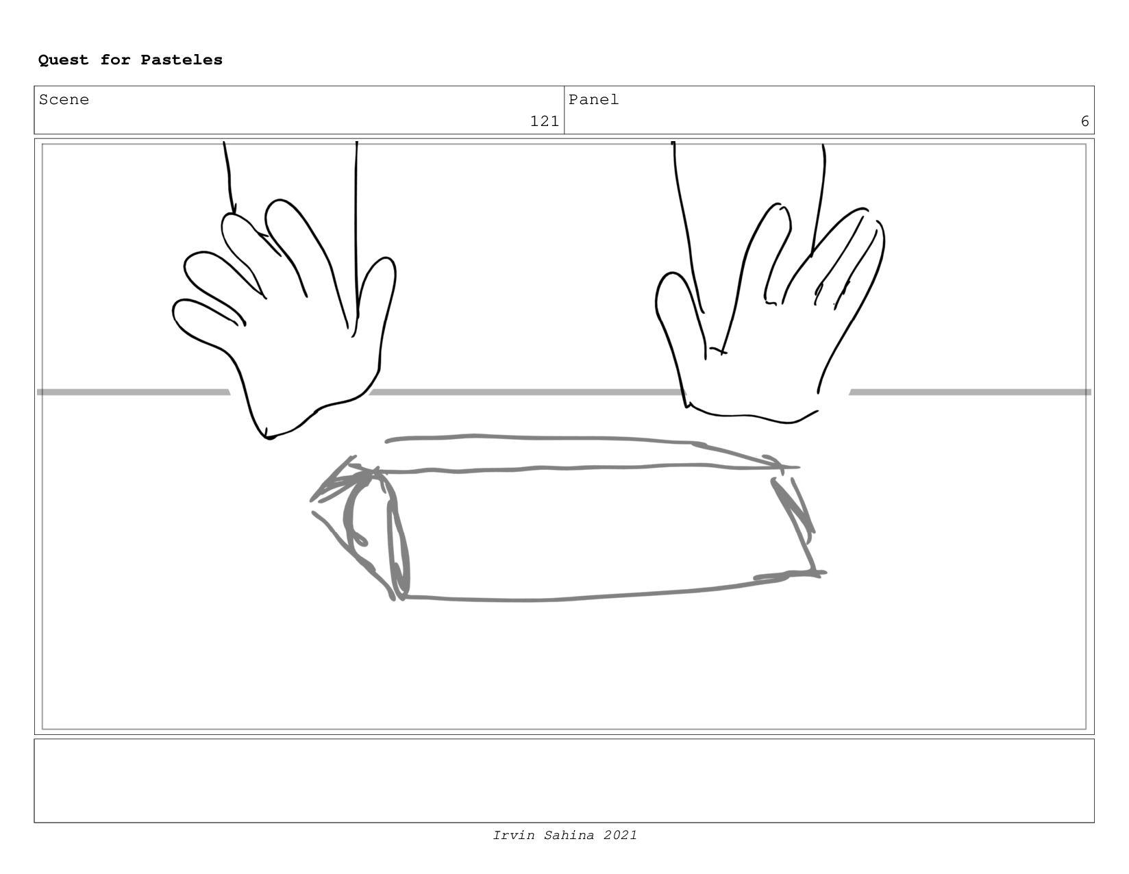 Scene 128 Panel 2 Quest for Pasteles Irvin Sahi...