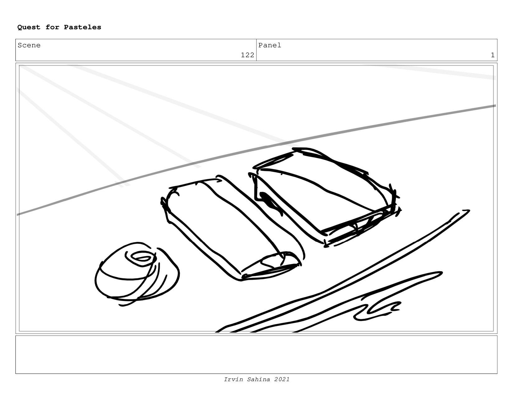 Scene 128 Panel 3 Quest for Pasteles Irvin Sahi...