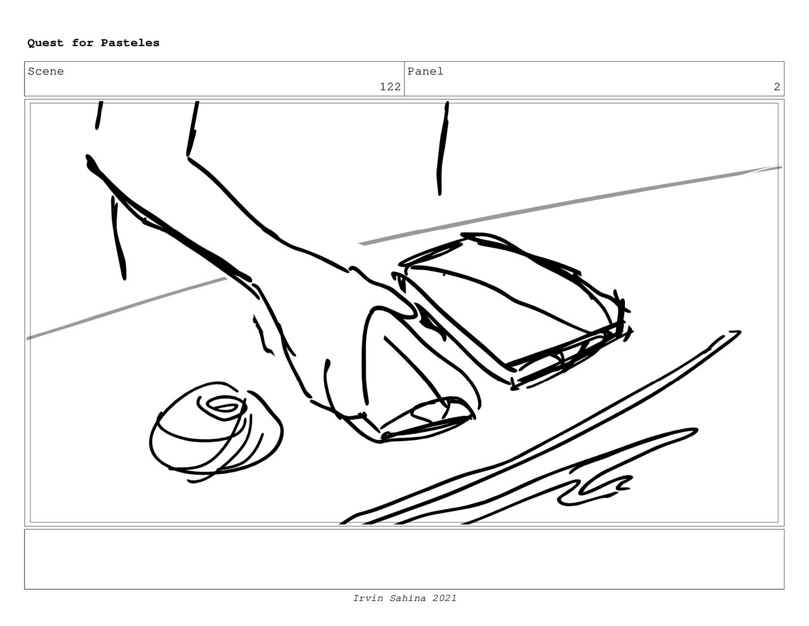 Scene 129 Panel 1 Quest for Pasteles Irvin Sahi...