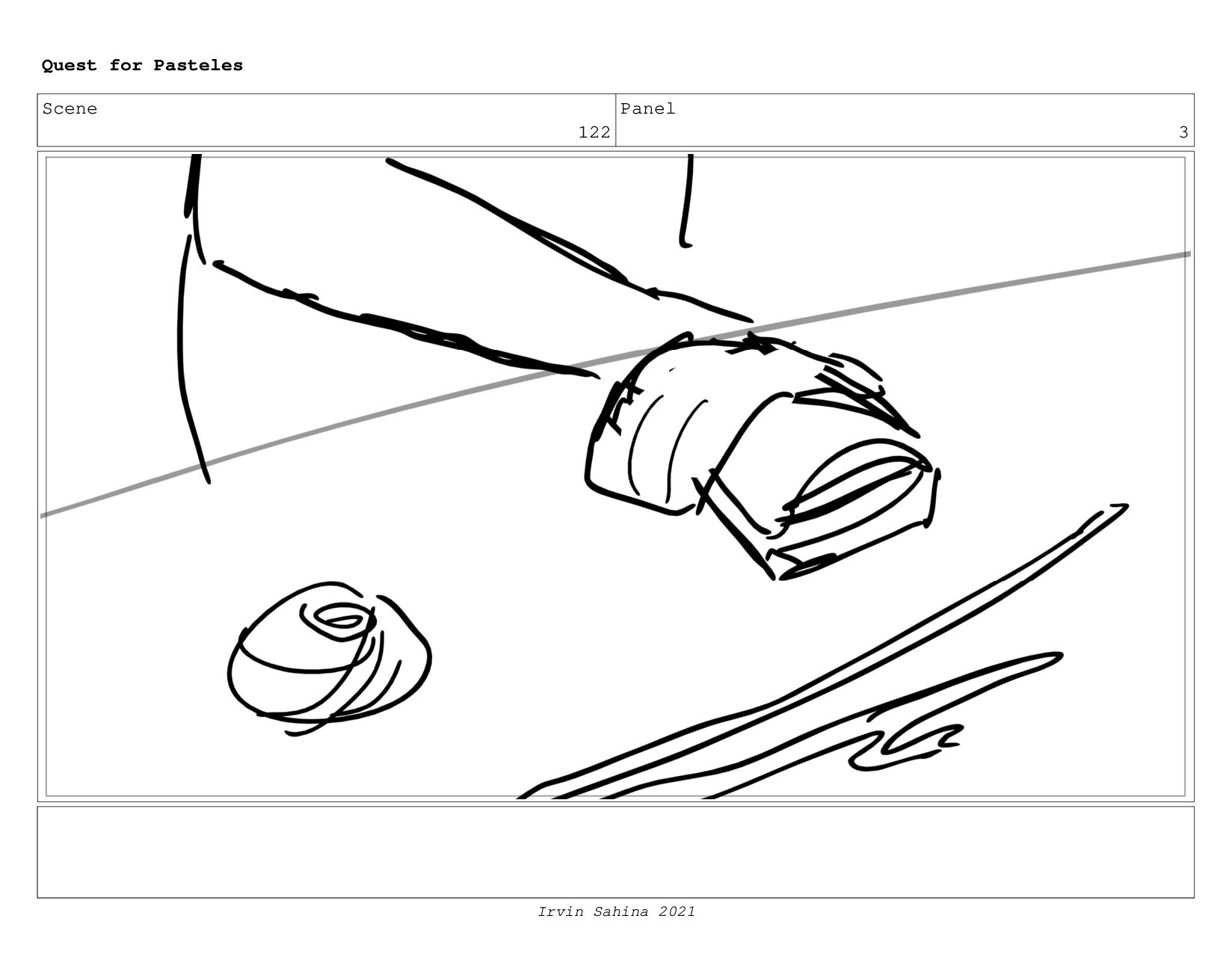 Scene 129 Panel 2 Quest for Pasteles Irvin Sahi...