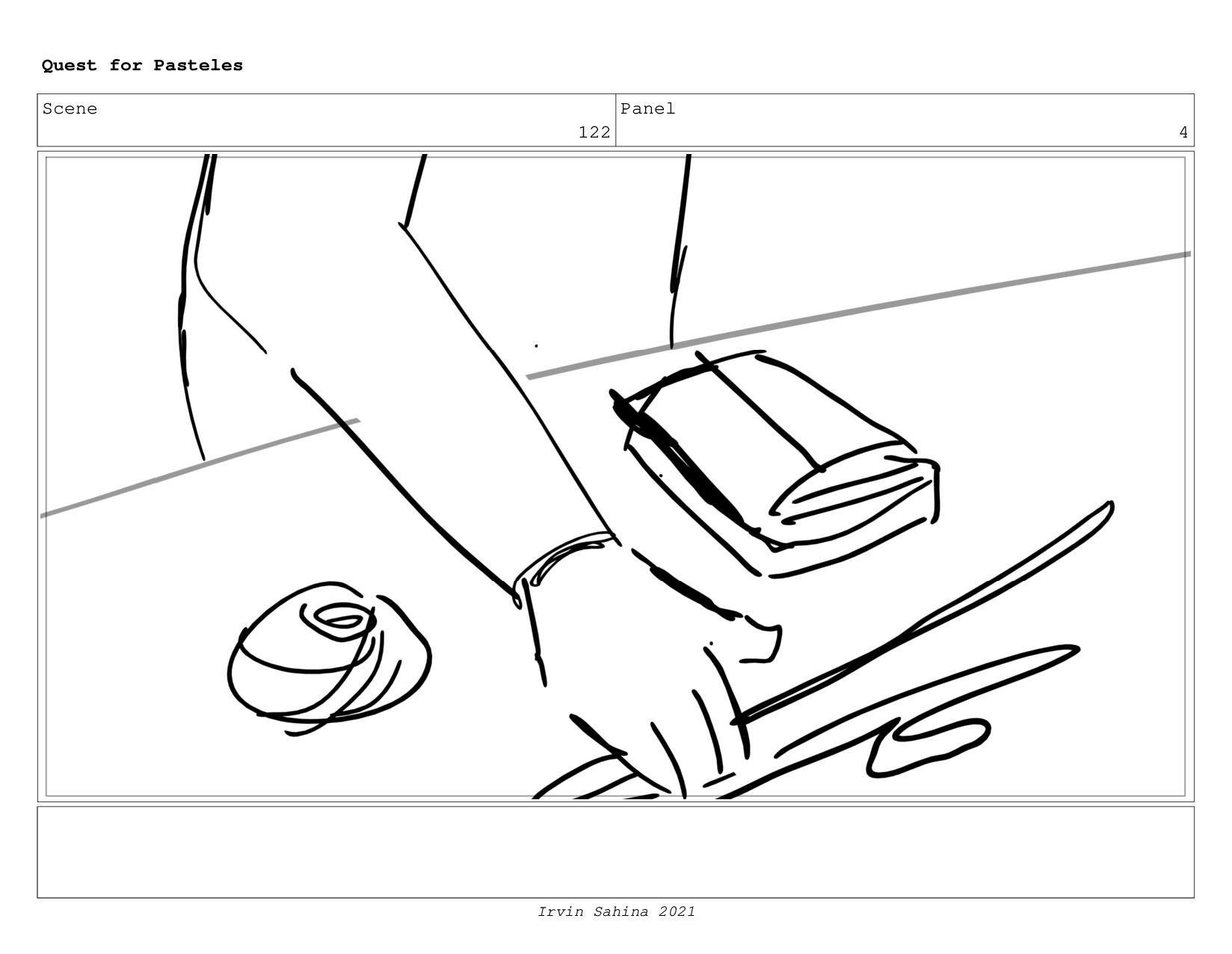 Scene 129 Panel 3 Quest for Pasteles Irvin Sahi...