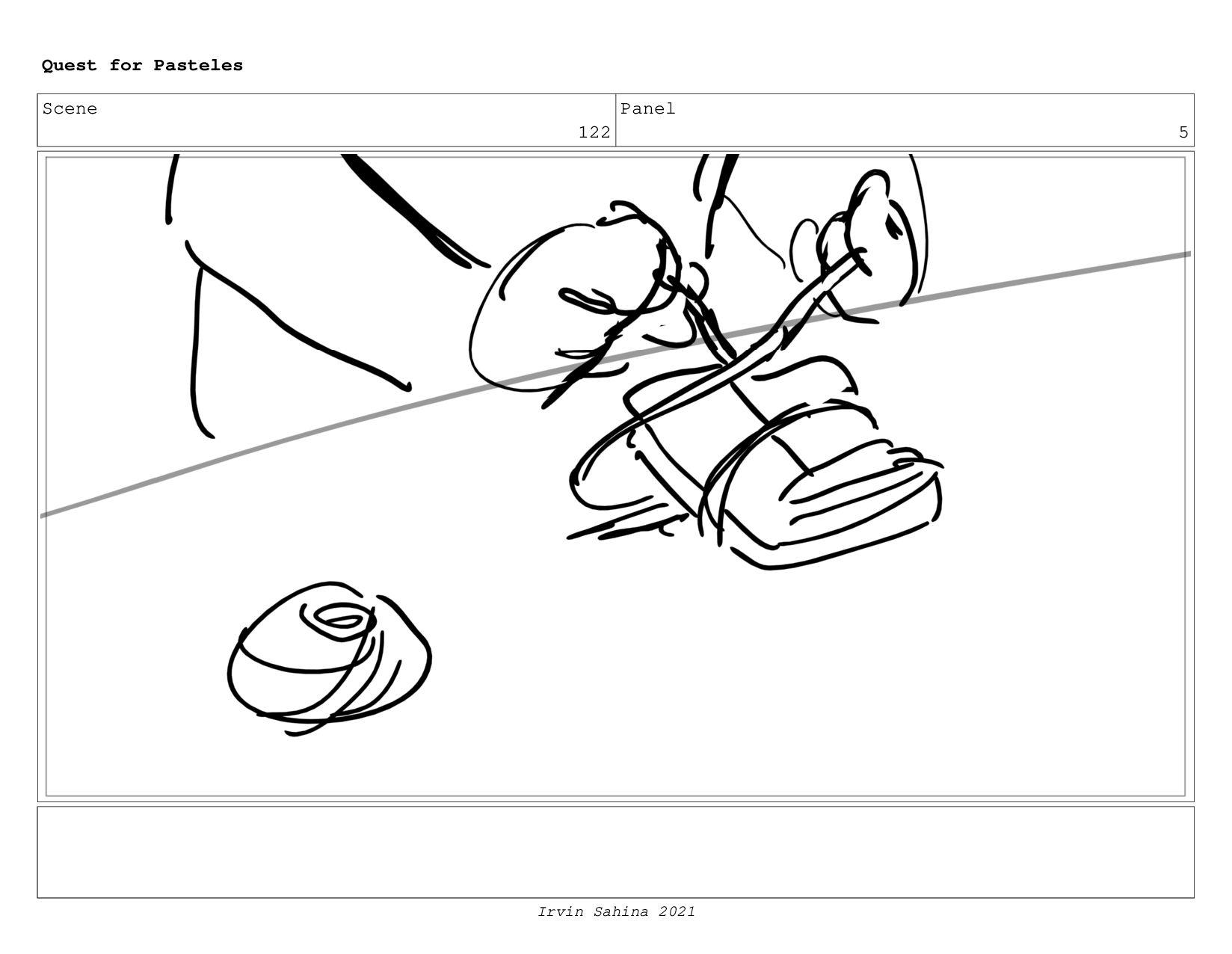 Scene 129 Panel 4 Quest for Pasteles Irvin Sahi...