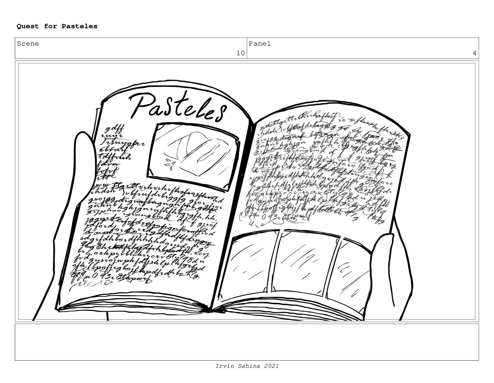 Scene 11 Panel 2 Quest for Pasteles Irvin Sahin...