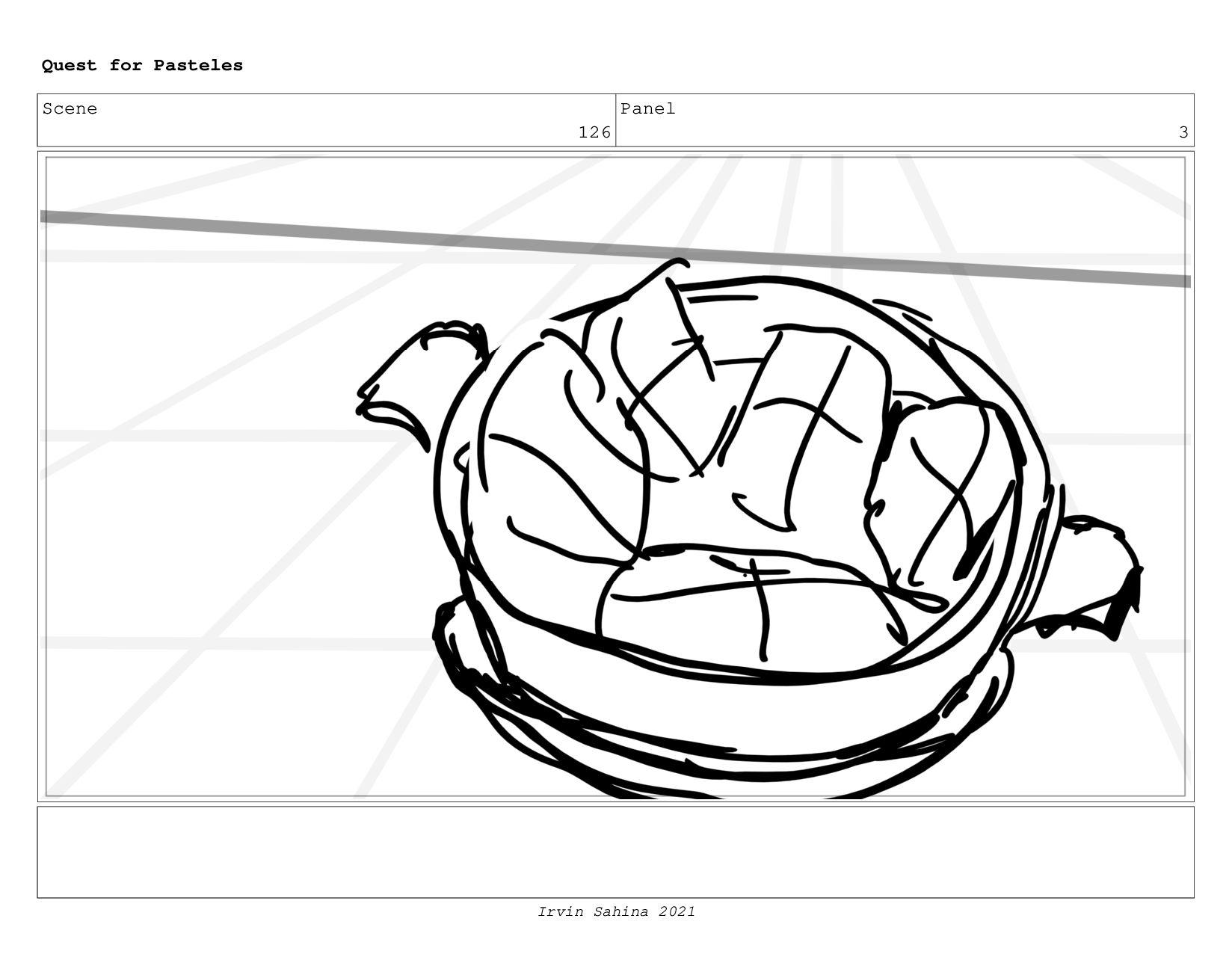 Scene 133 Panel 1 Quest for Pasteles Irvin Sahi...