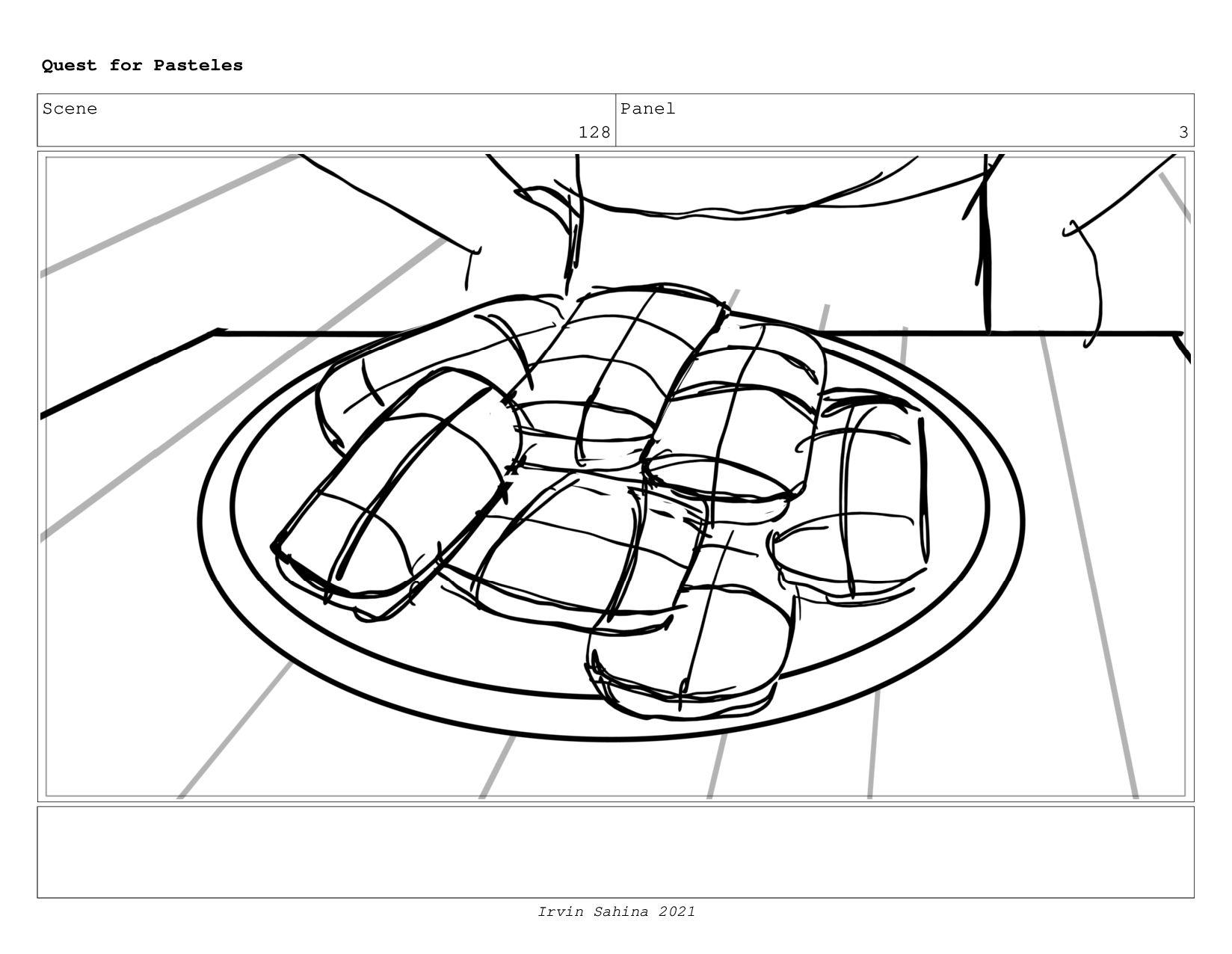 Scene 133 Panel 9 Quest for Pasteles Irvin Sahi...
