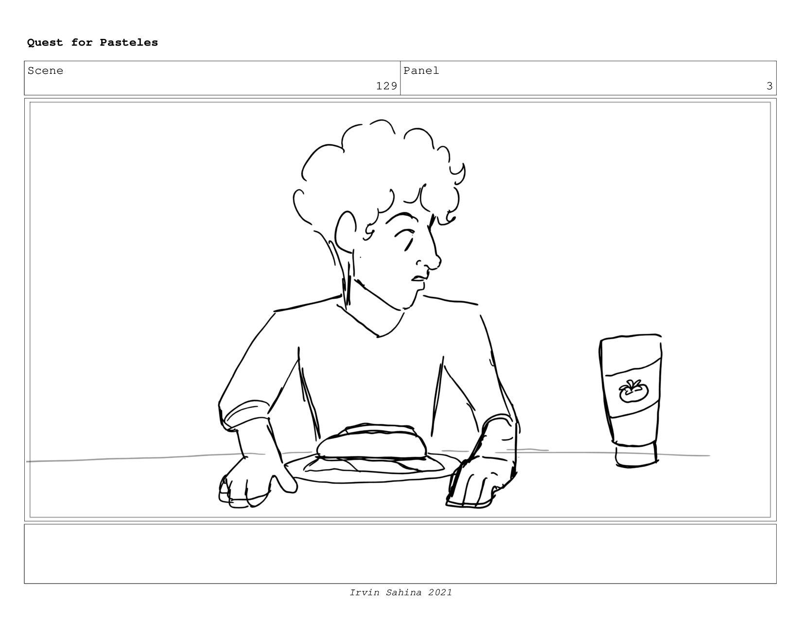 Scene 134 Panel 1 Quest for Pasteles Irvin Sahi...