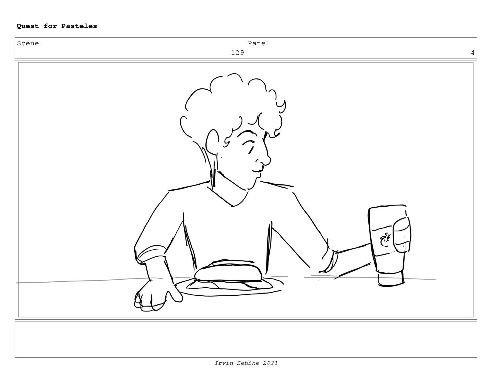 Scene 134 Panel 2 Quest for Pasteles Irvin Sahi...
