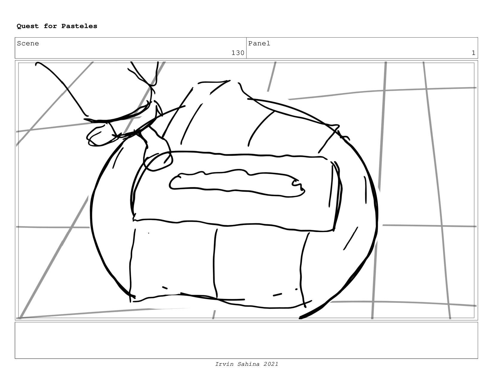 Scene 134 Panel 3 Quest for Pasteles Irvin Sahi...