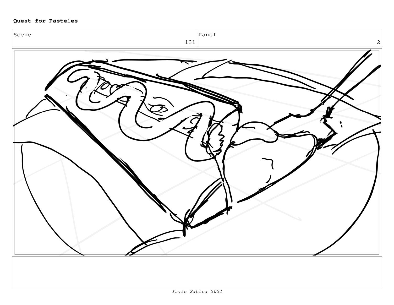 Scene 135 Panel 2 Quest for Pasteles Irvin Sahi...