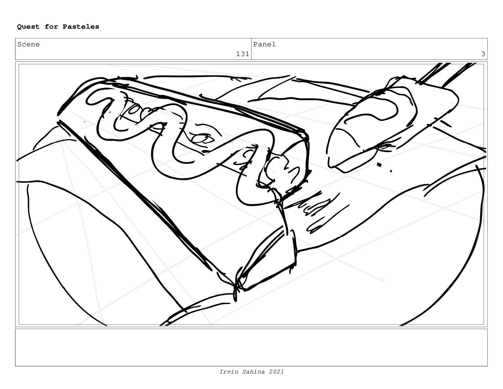 Scene 135 Panel 3 Quest for Pasteles Irvin Sahi...