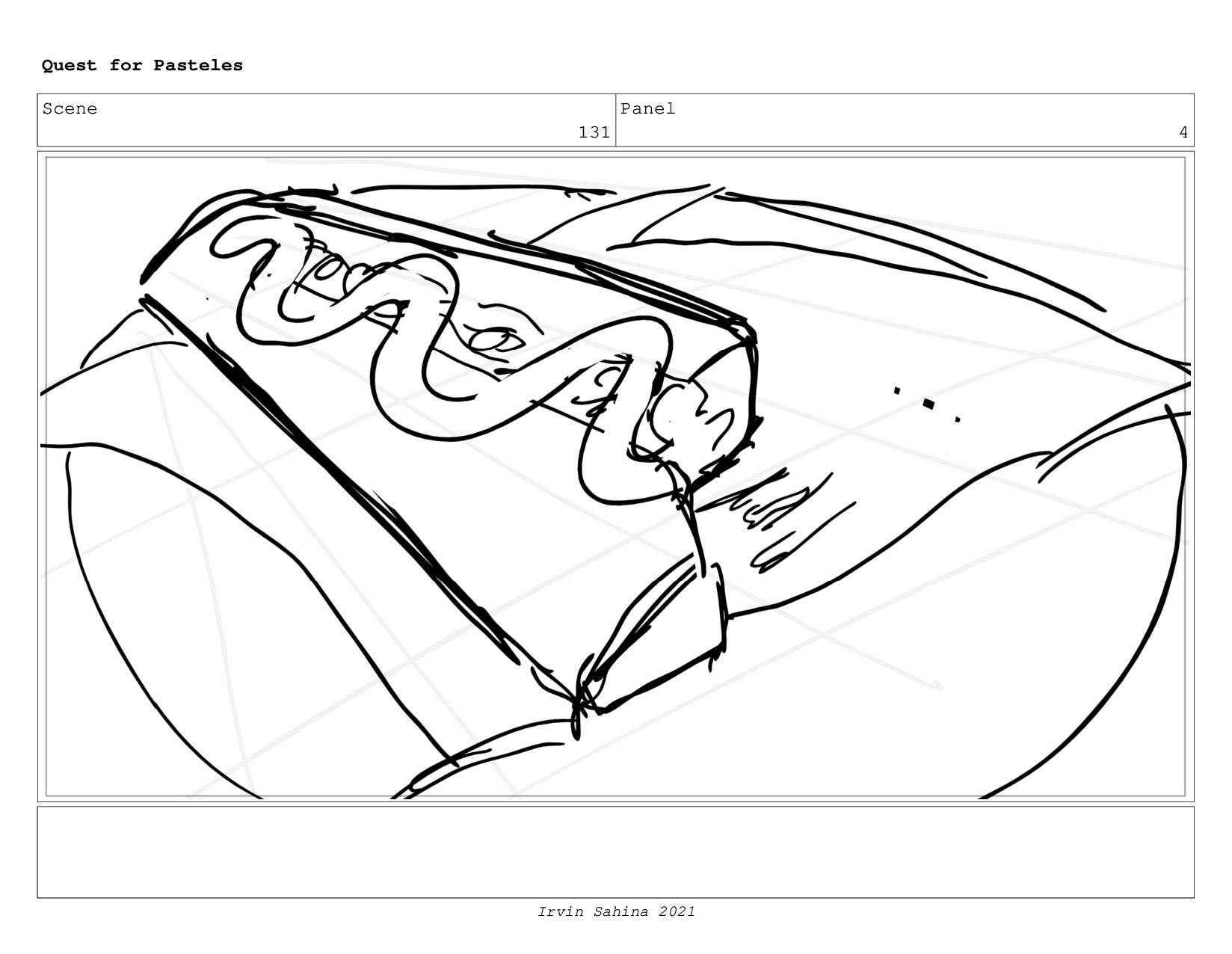 Scene 135 Panel 4 Quest for Pasteles Irvin Sahi...