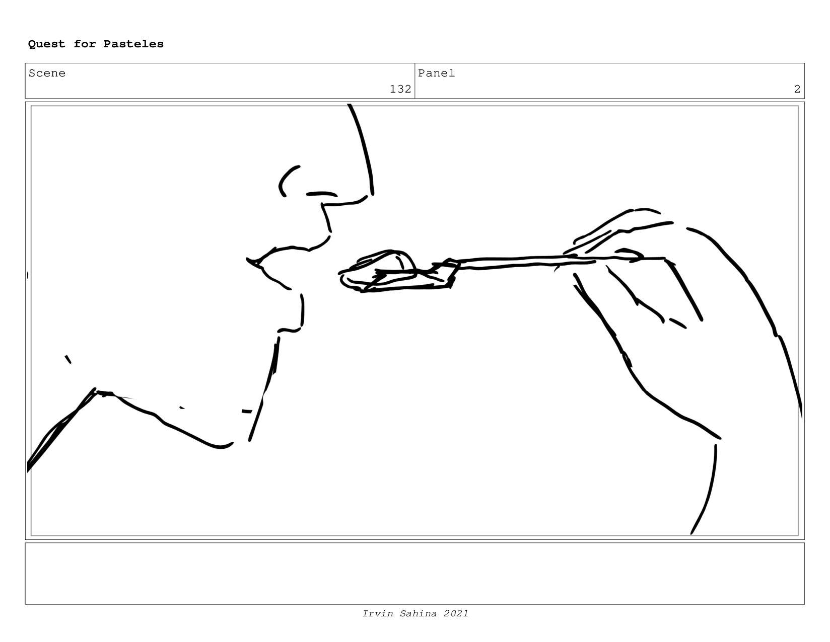 Scene 135 Panel 6 Quest for Pasteles Irvin Sahi...
