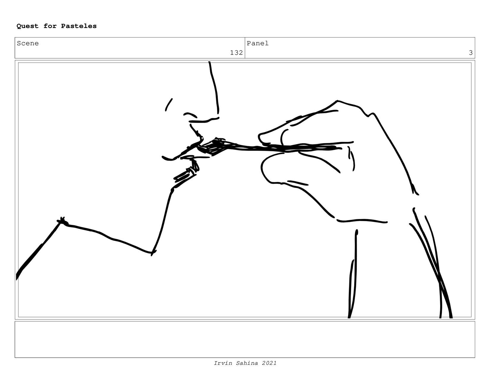 Scene 135 Panel 7 Quest for Pasteles Irvin Sahi...