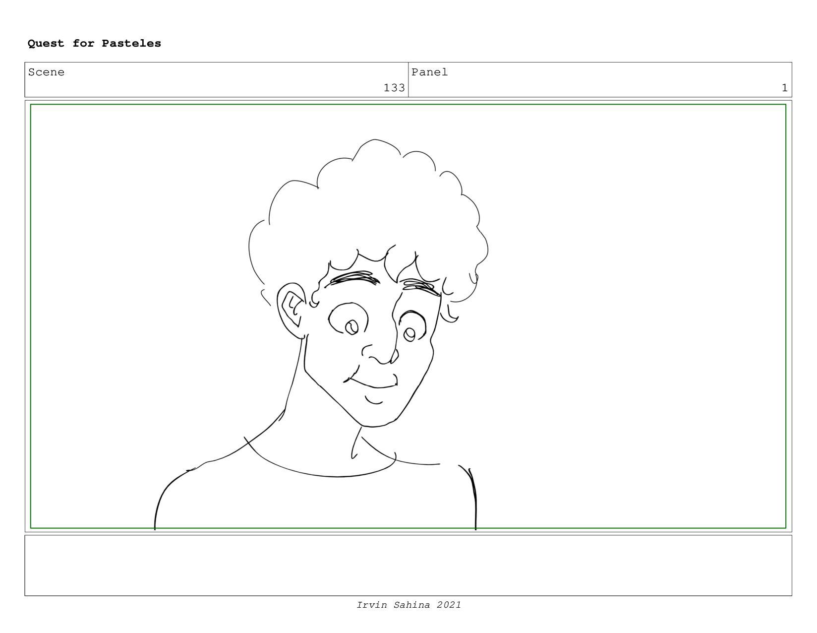 Scene 135 Panel 9 Quest for Pasteles Irvin Sahi...