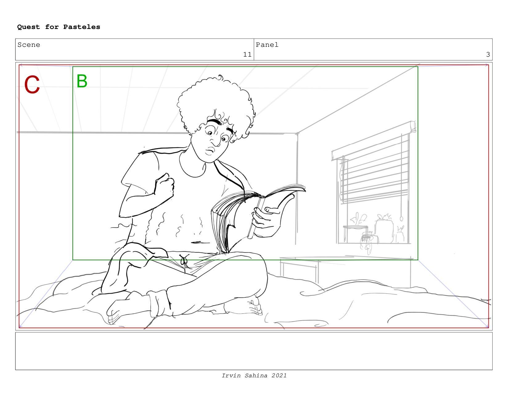 Scene 12 Panel 1 Quest for Pasteles Irvin Sahin...