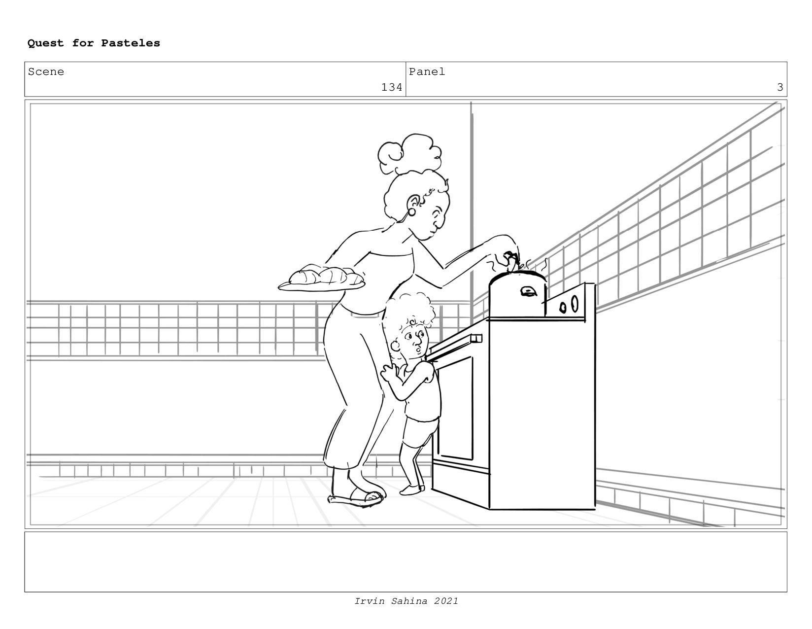 Scene 139 Panel 1 Quest for Pasteles Irvin Sahi...