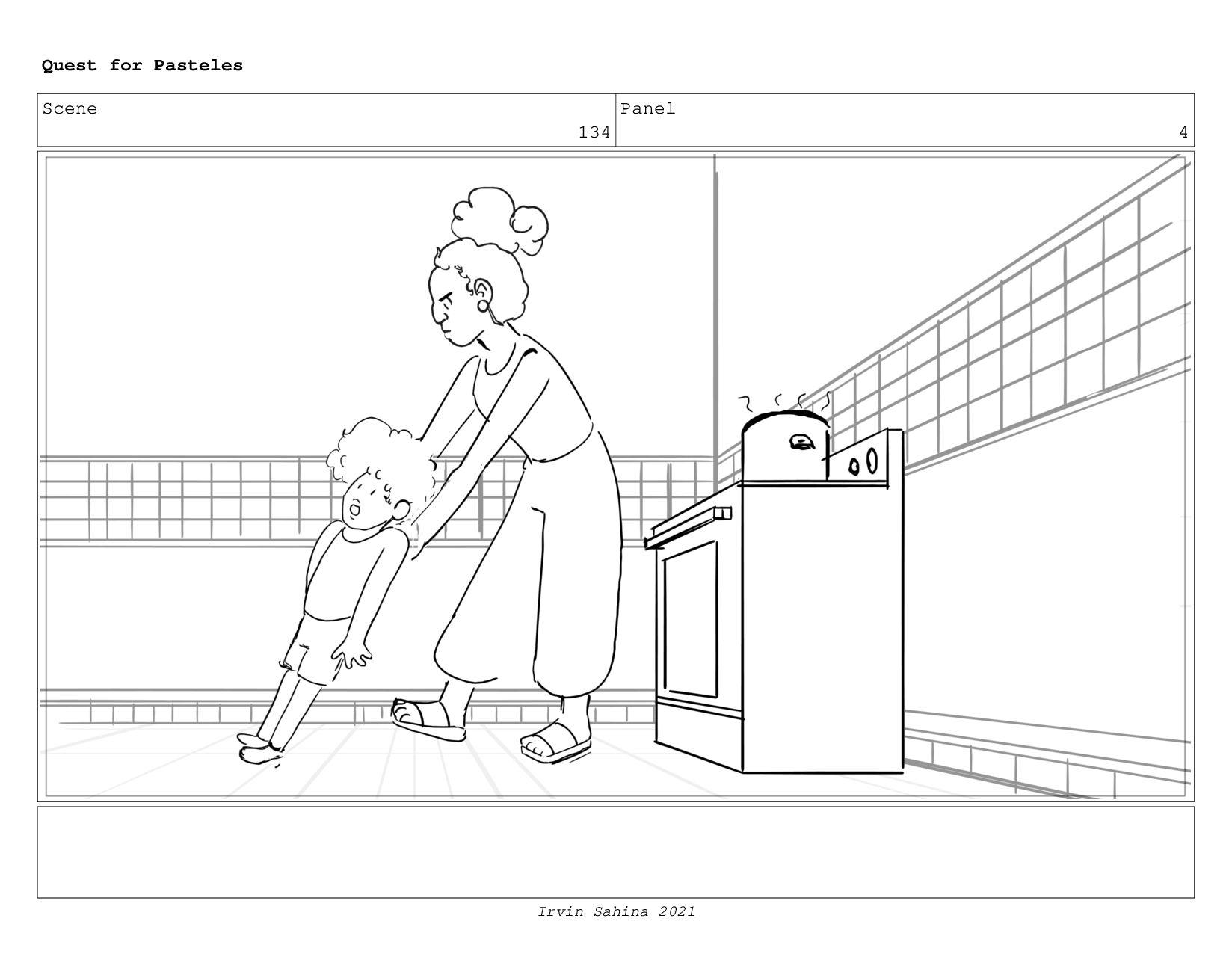 Scene 140 Panel 1 Quest for Pasteles Irvin Sahi...