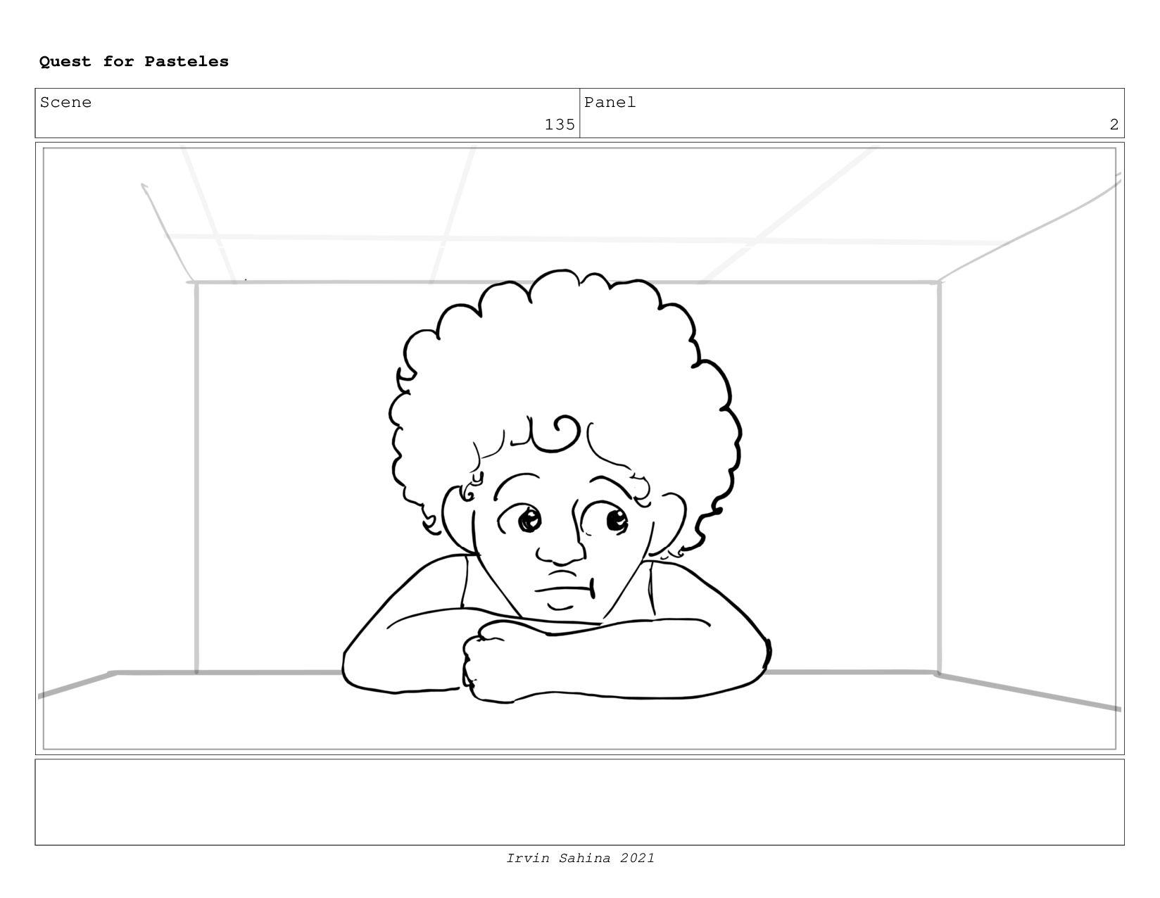 Scene 140 Panel 3 Quest for Pasteles Irvin Sahi...